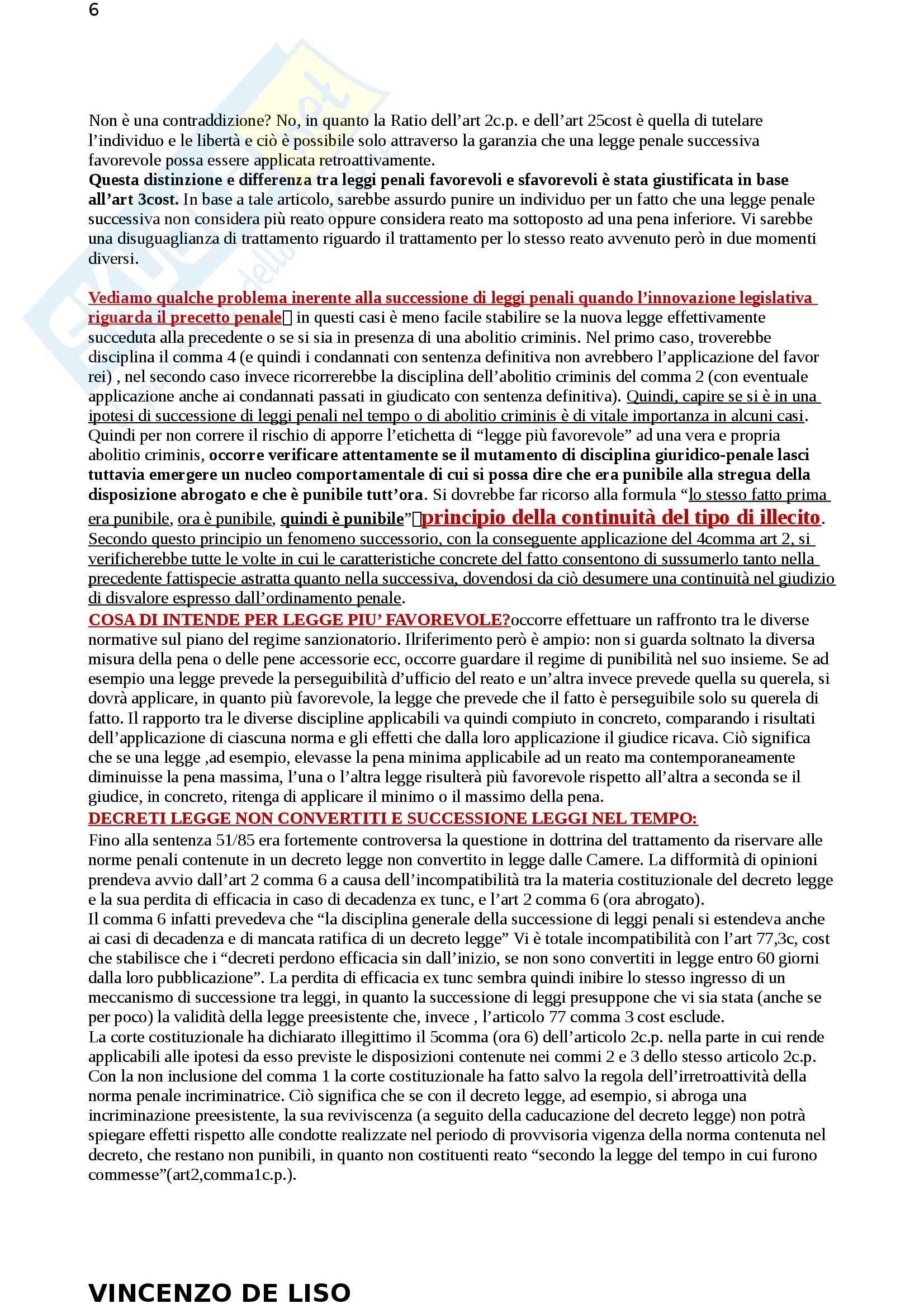 Riassunto esame Diritto Penale, prof. Moccia, libro consigliato Diritto penale, Fiore Pag. 6
