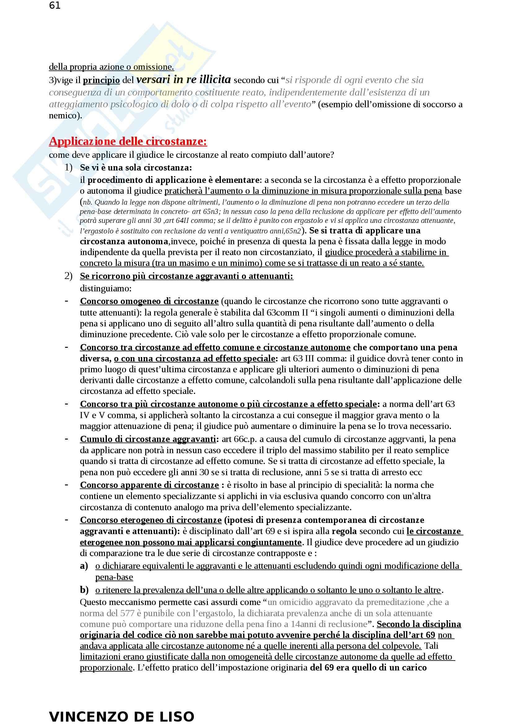 Riassunto esame Diritto Penale, prof. Moccia, libro consigliato Diritto penale, Fiore Pag. 61