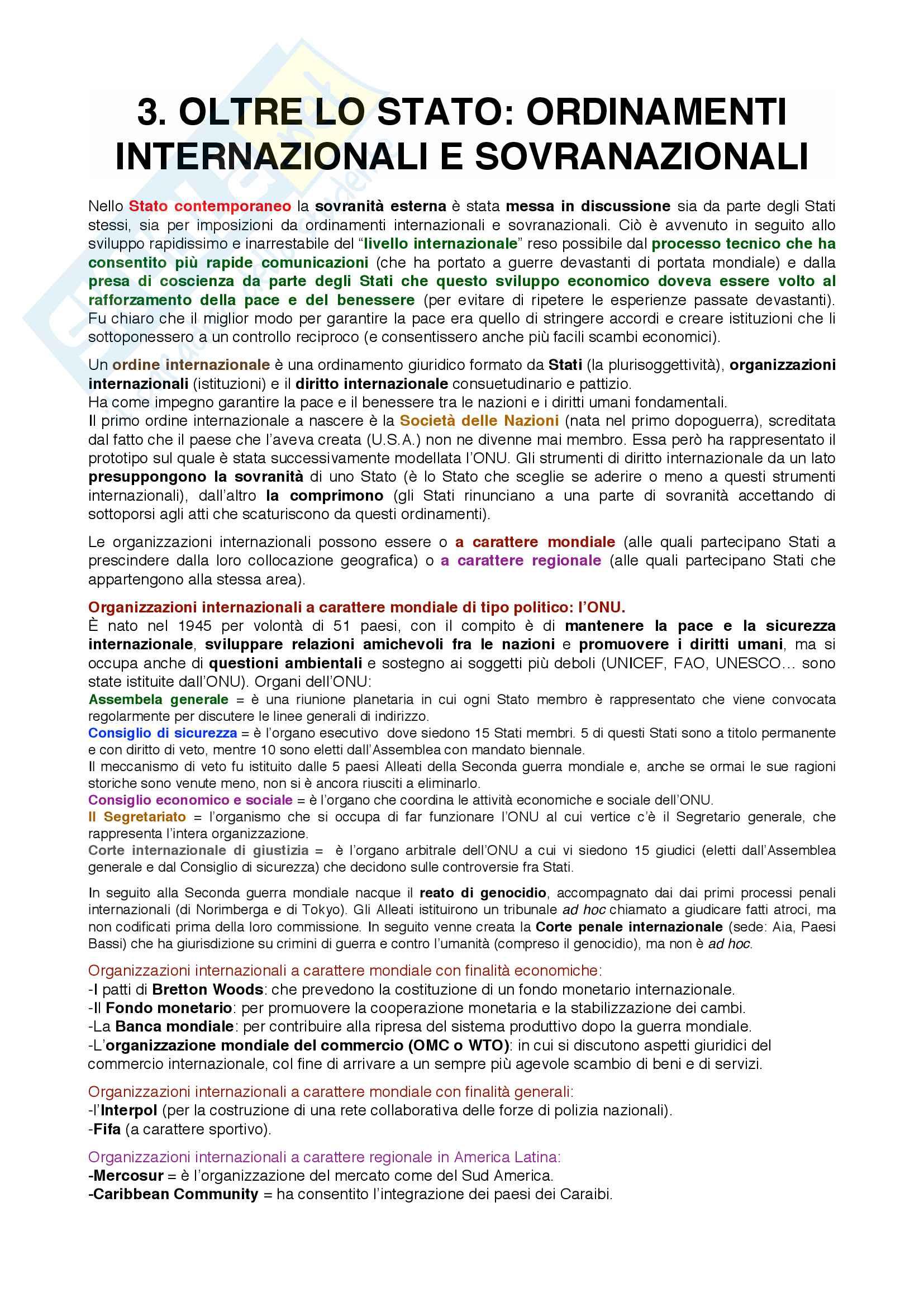 """Riassunto esame Diritto Pubblico, docente Tania Groppi, libro consigliato """"Introduzione allo studio del diritto pubblico"""", Tania Groppi Pag. 6"""