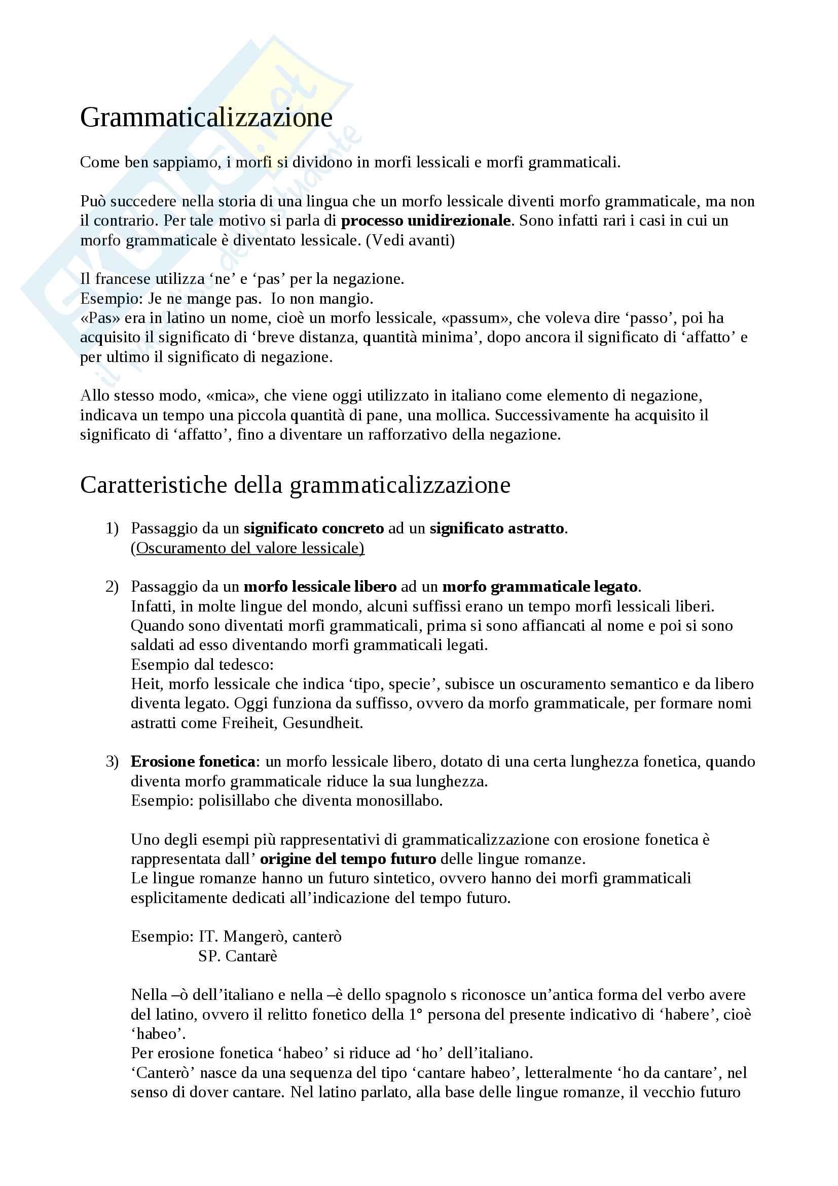 appunto A. De Angelis Linguistica generale