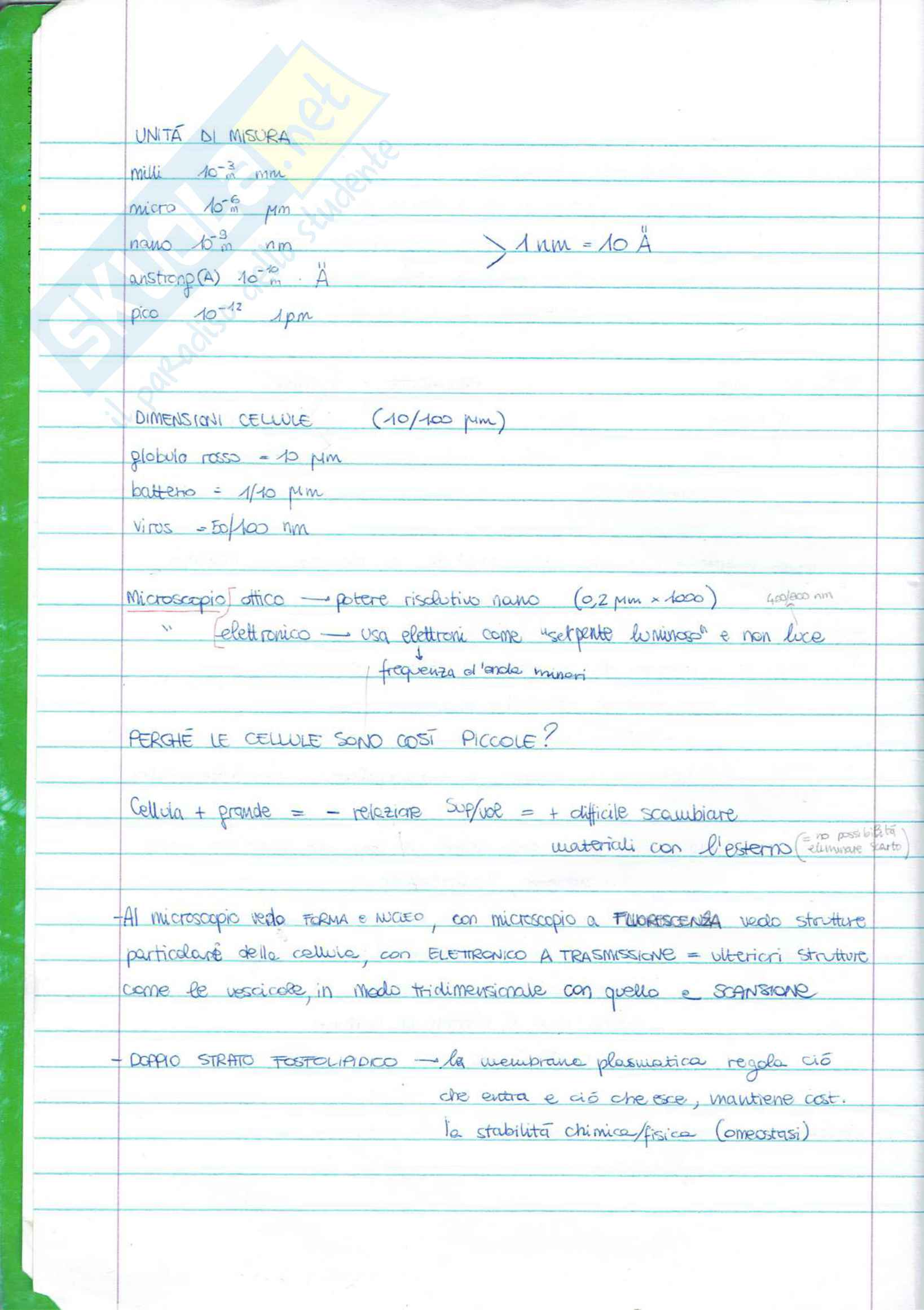 biologia cellulare Pag. 2