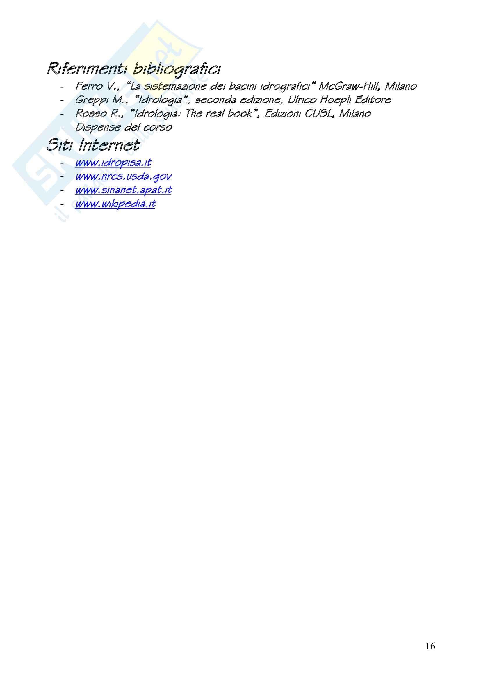 Idrologia - relazione Pag. 16