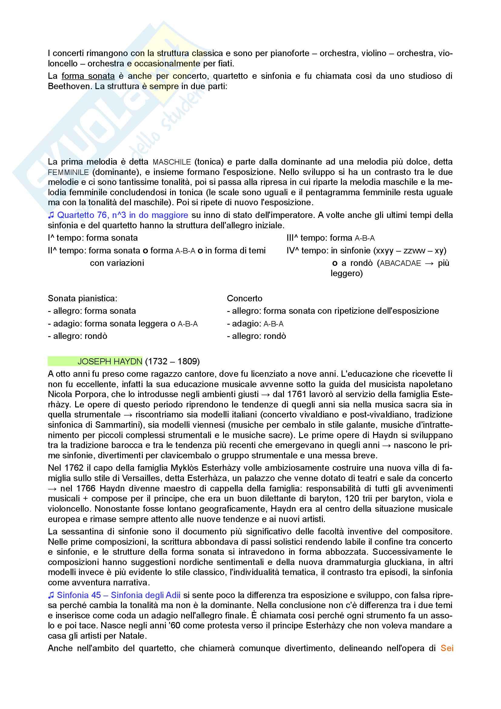 Riassunto esame di Storia della Musica, prof. Moppi, libro consigliato Manuale di storia della musica, Elvidio Surian Pag. 16