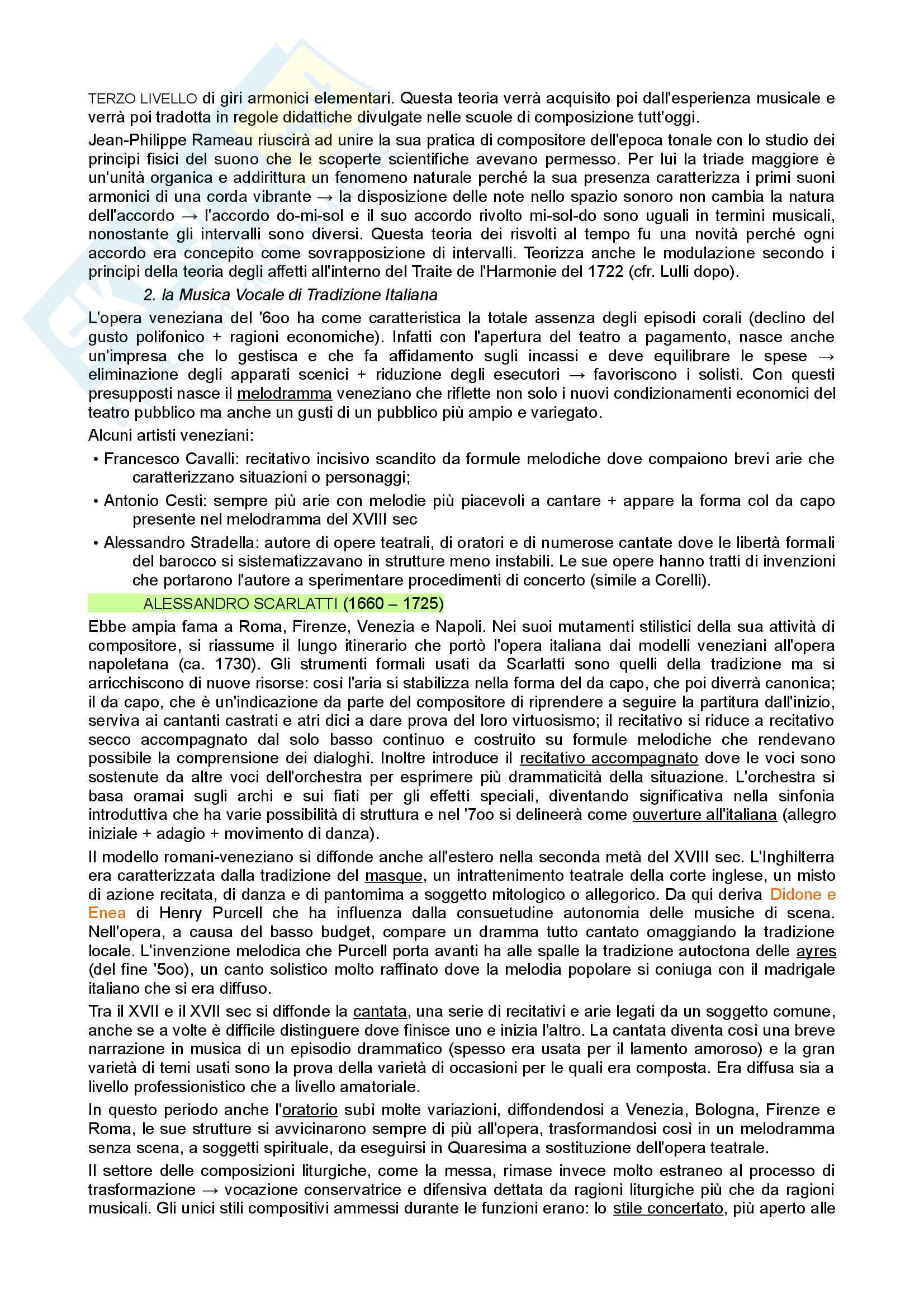 Riassunto esame di Storia della Musica, prof. Moppi, libro consigliato Manuale di storia della musica, Elvidio Surian Pag. 6