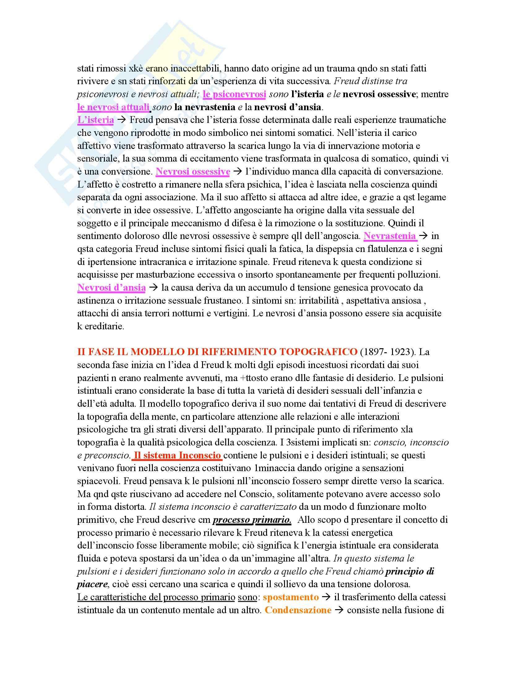 Psicologia dinamica - modelli della mente di Freud - Appunti Pag. 2