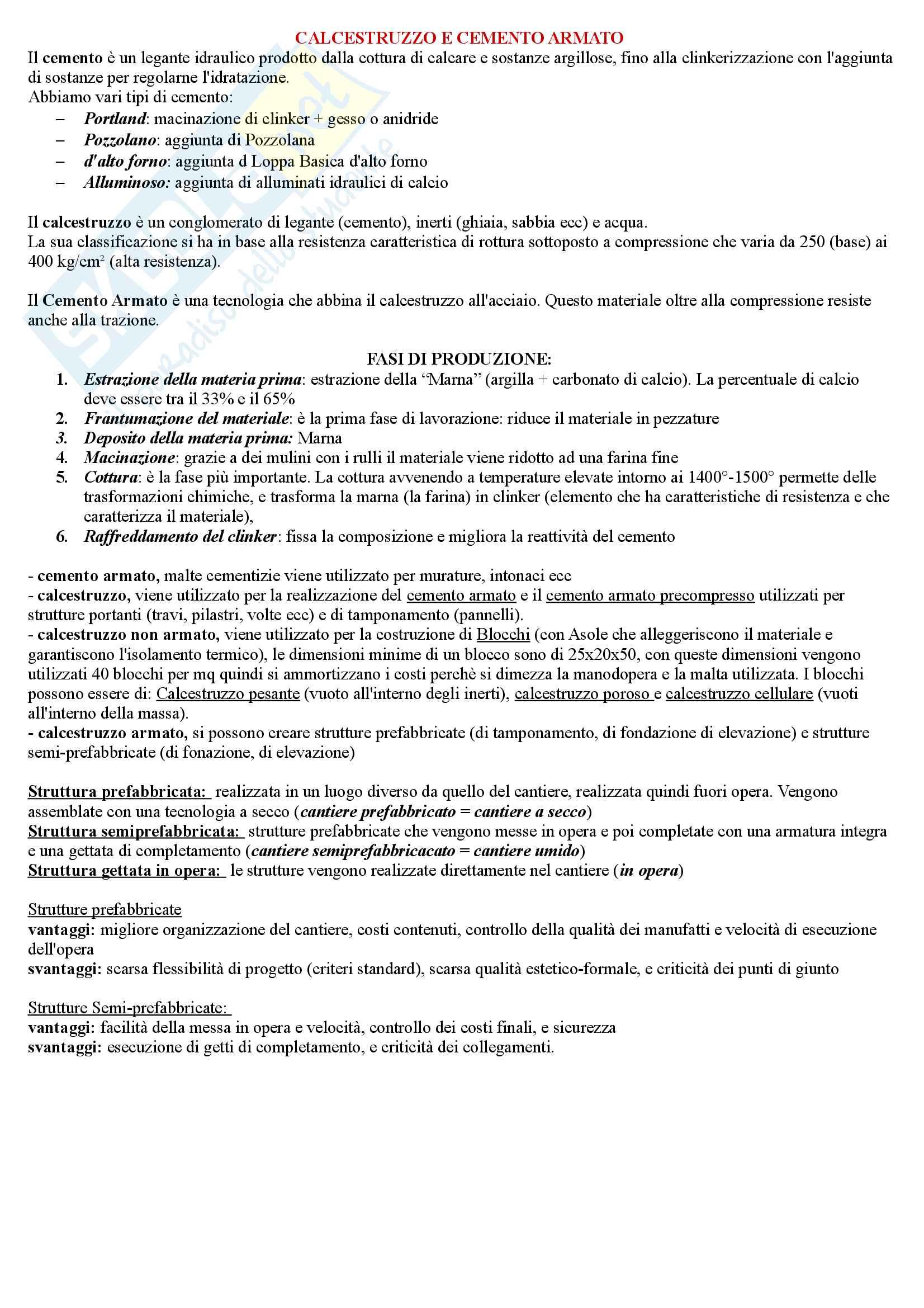 Esame Materiali e sistemi costruttivi Prof Domenico D Olimpio