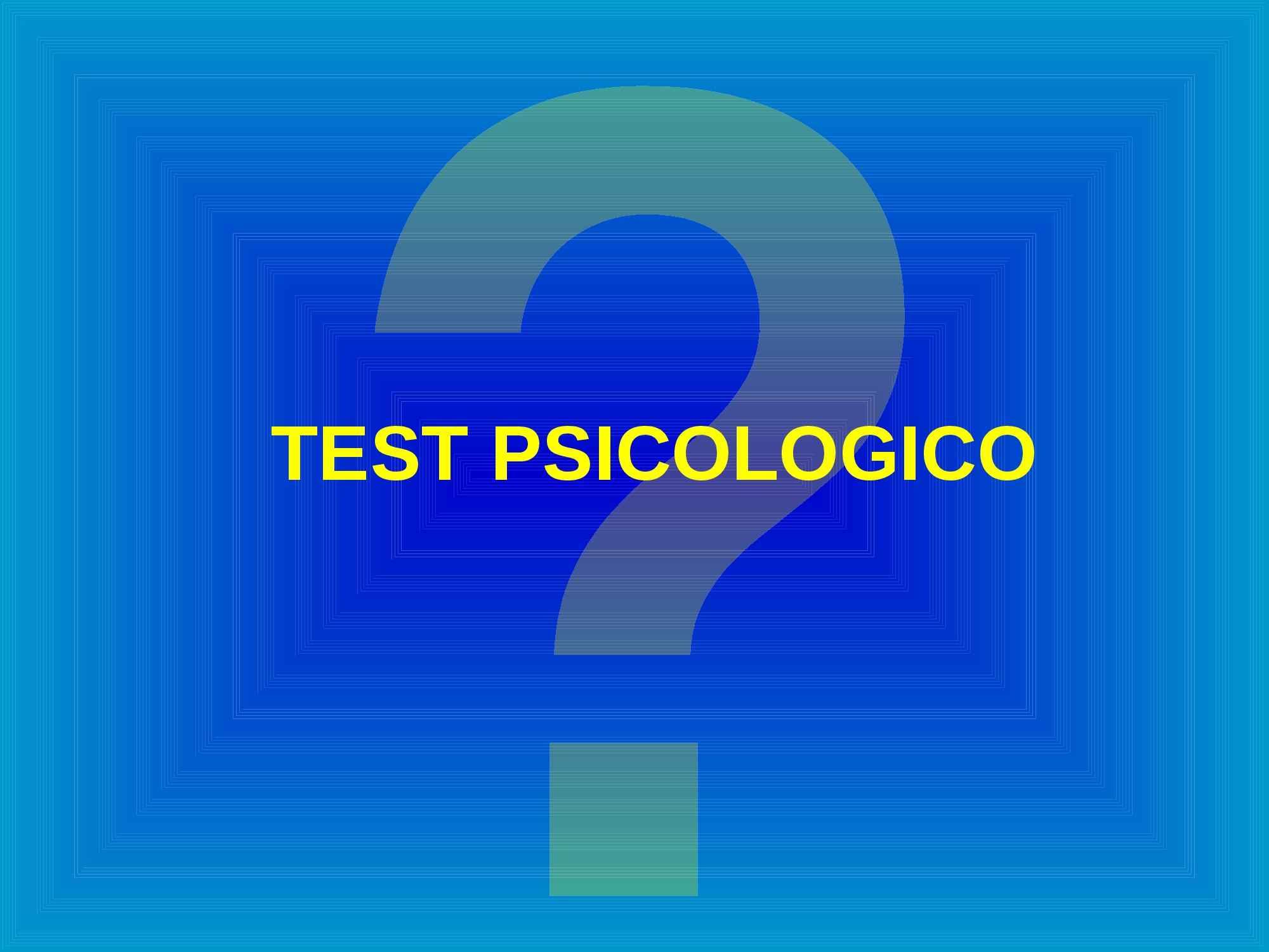 Descrizione delle caratteristiche di un test