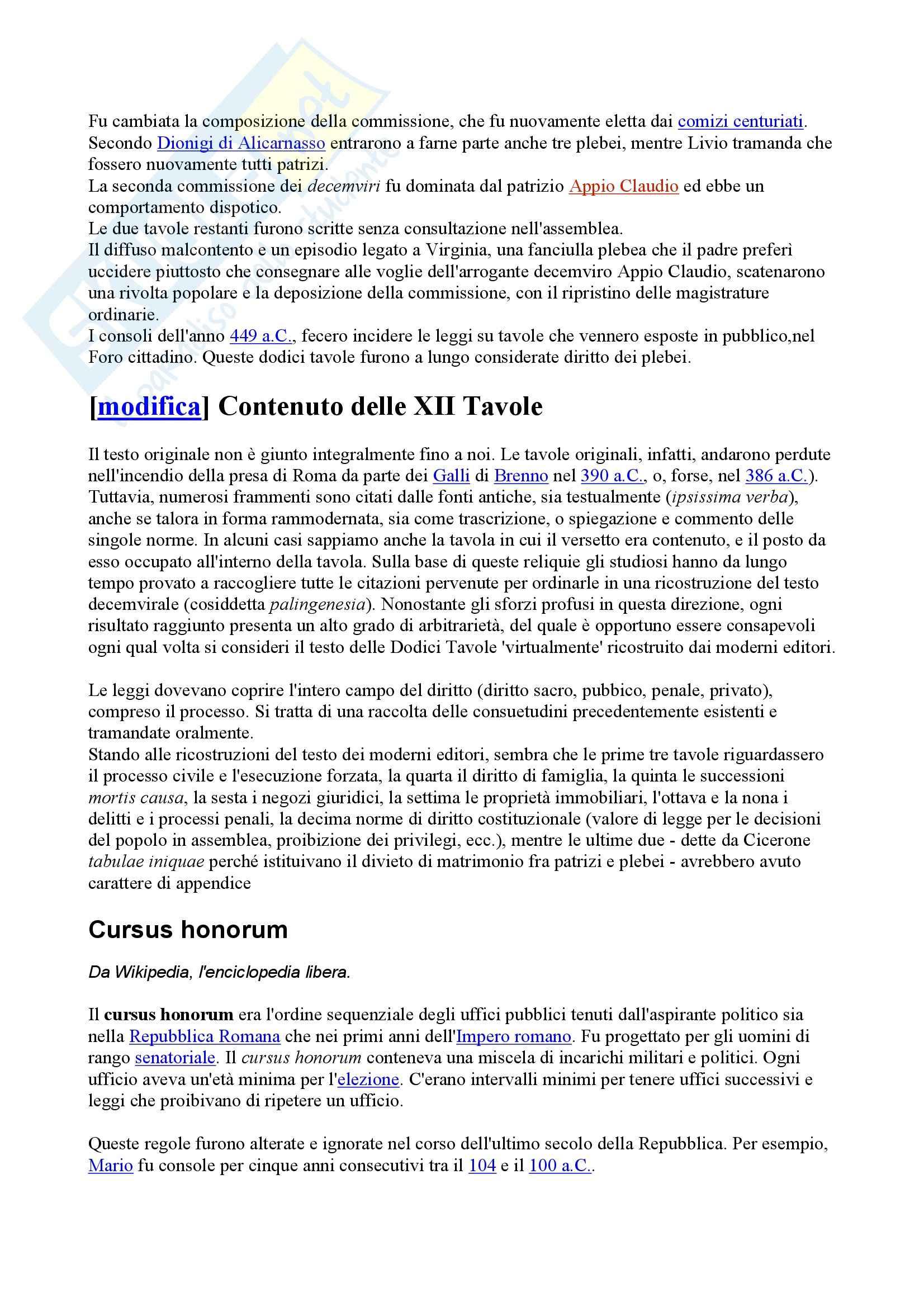 Storia del diritto romano - Leggi delle XII tavole Pag. 2