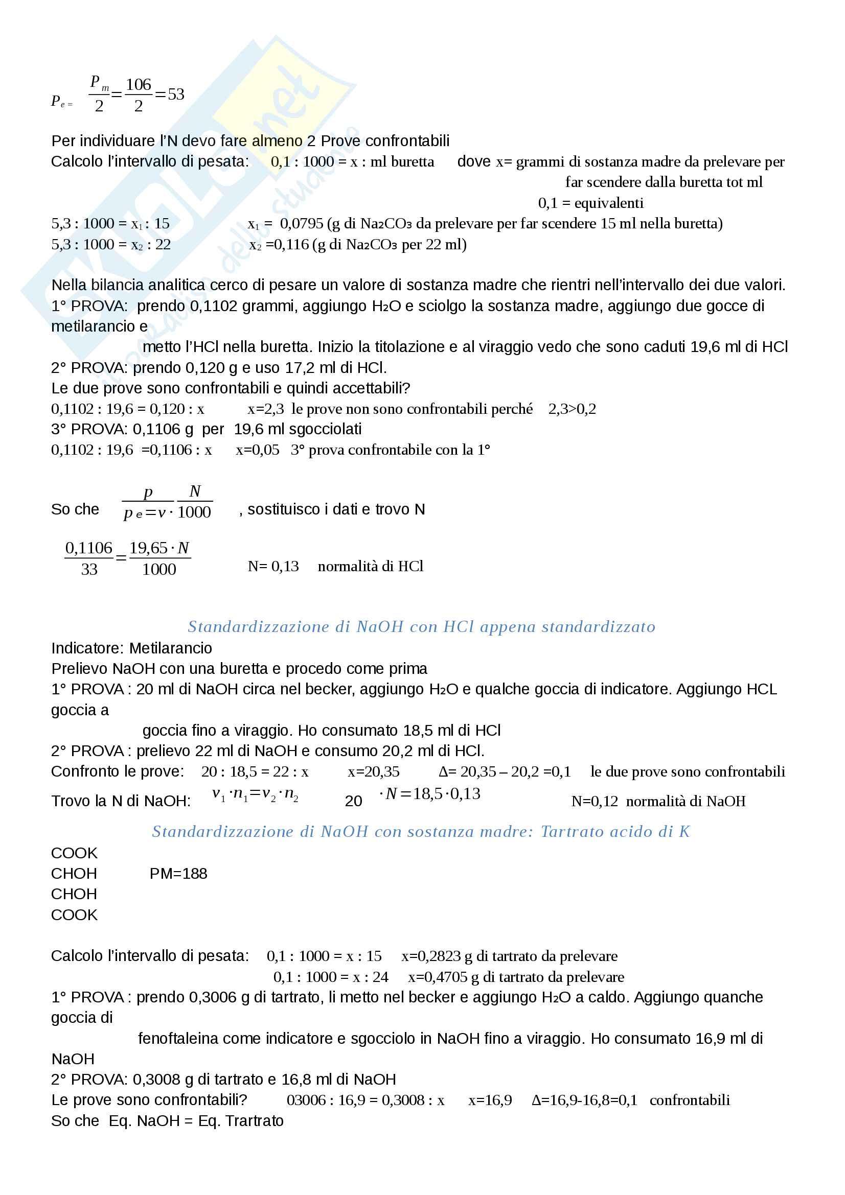 Analisi dei Farmaci I Pag. 31