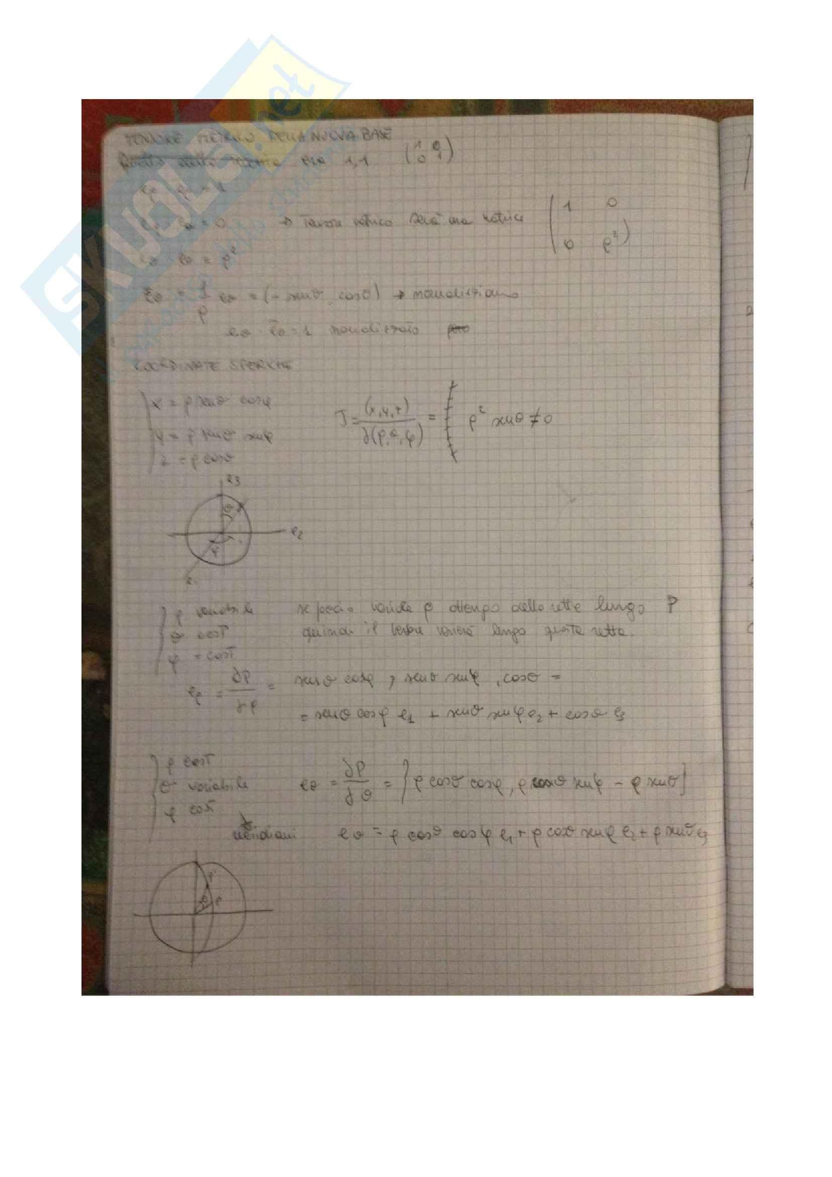 Meccanica razionale - il tensore metrico