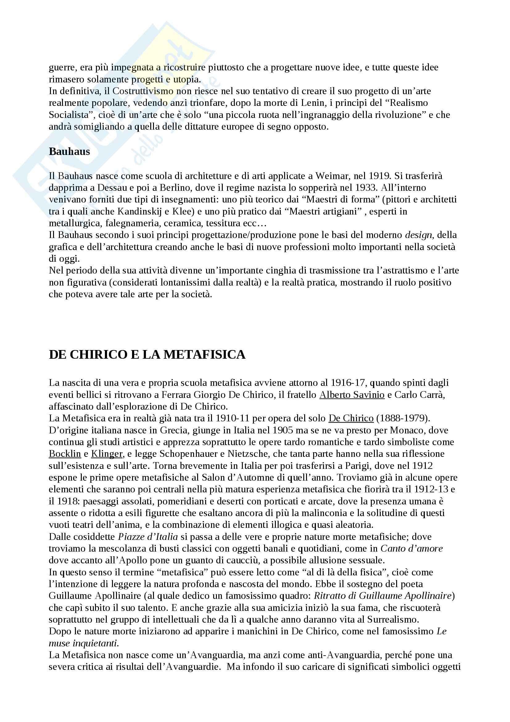 Riassunto esame Arte Contemporanea, prof. Sbrilli, libro consigliato Arte nel Tempo volume 3, II tomo, De Vecchi, Cerchiari Pag. 16