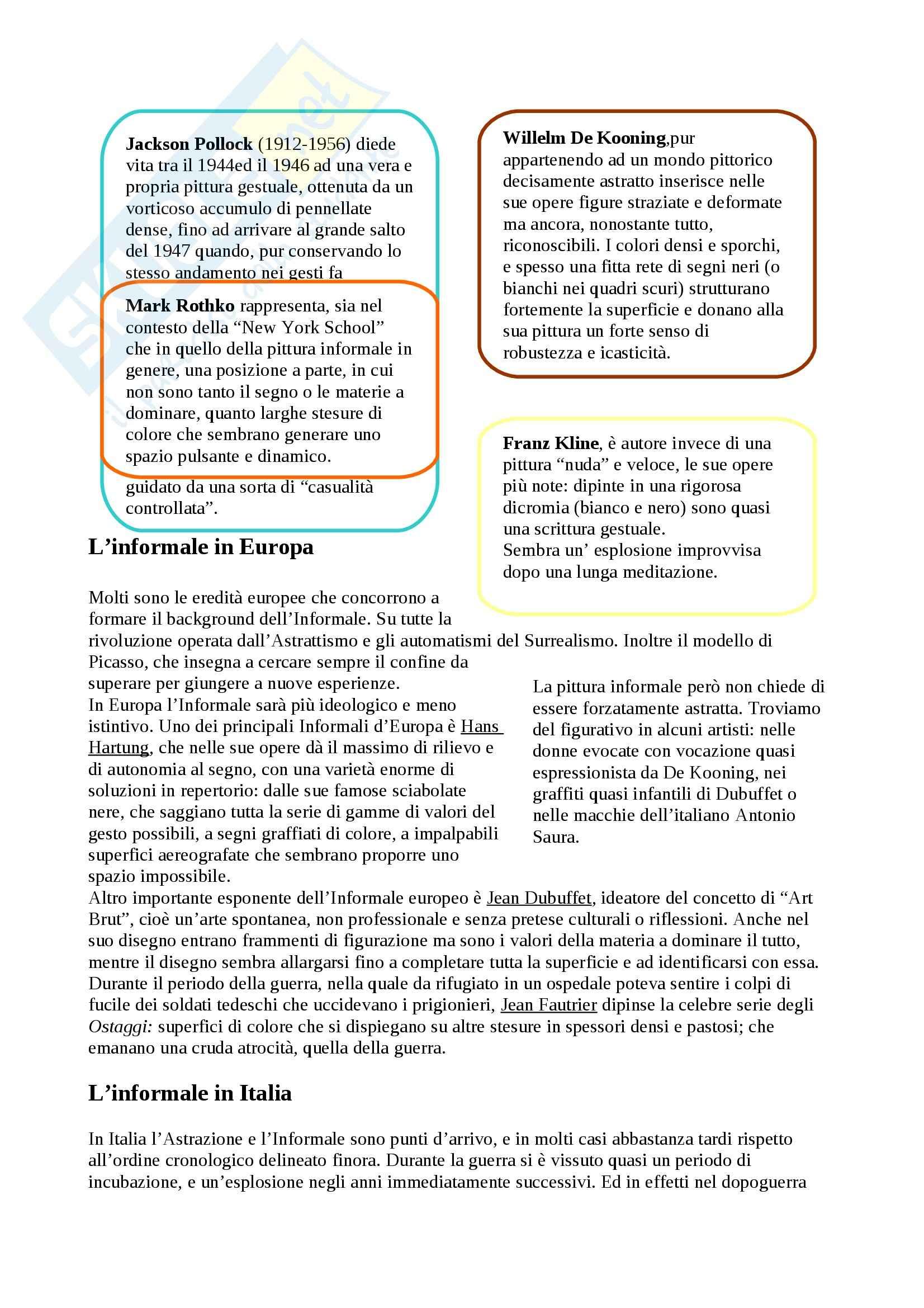 Riassunto esame Arte Contemporanea, prof. Sbrilli, libro consigliato Arte nel Tempo volume 3, II tomo, De Vecchi, Cerchiari Pag. 21
