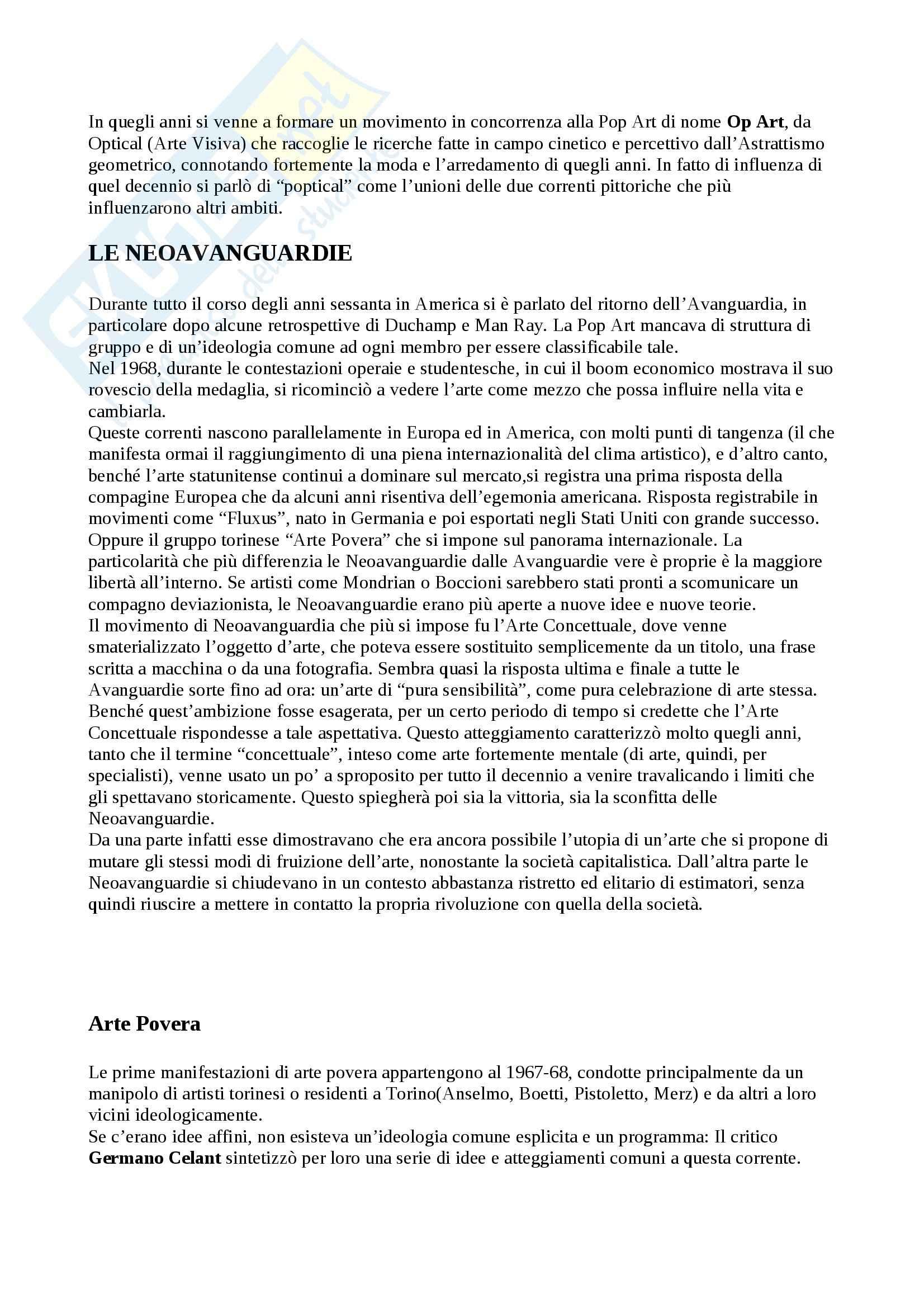 Riassunto esame Arte Contemporanea, prof. Sbrilli, libro consigliato Arte nel Tempo volume 3, II tomo, De Vecchi, Cerchiari Pag. 26