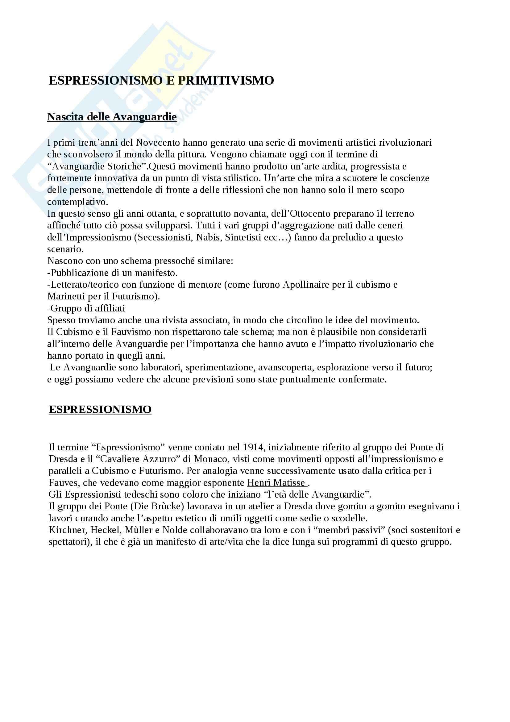 Riassunto esame Arte Contemporanea, prof. Sbrilli, libro consigliato Arte nel Tempo volume 3, II tomo, De Vecchi, Cerchiari Pag. 6