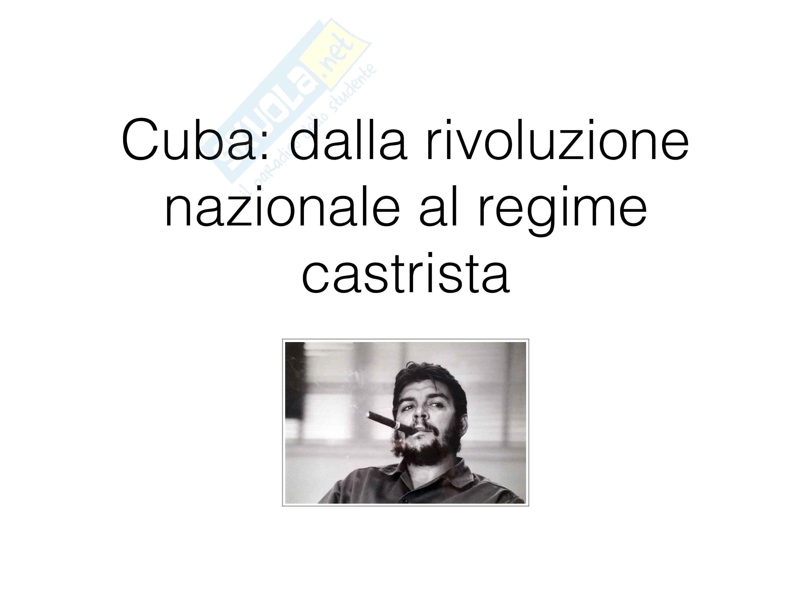 La rivoluzione cubana - riassunto storia contemporanea