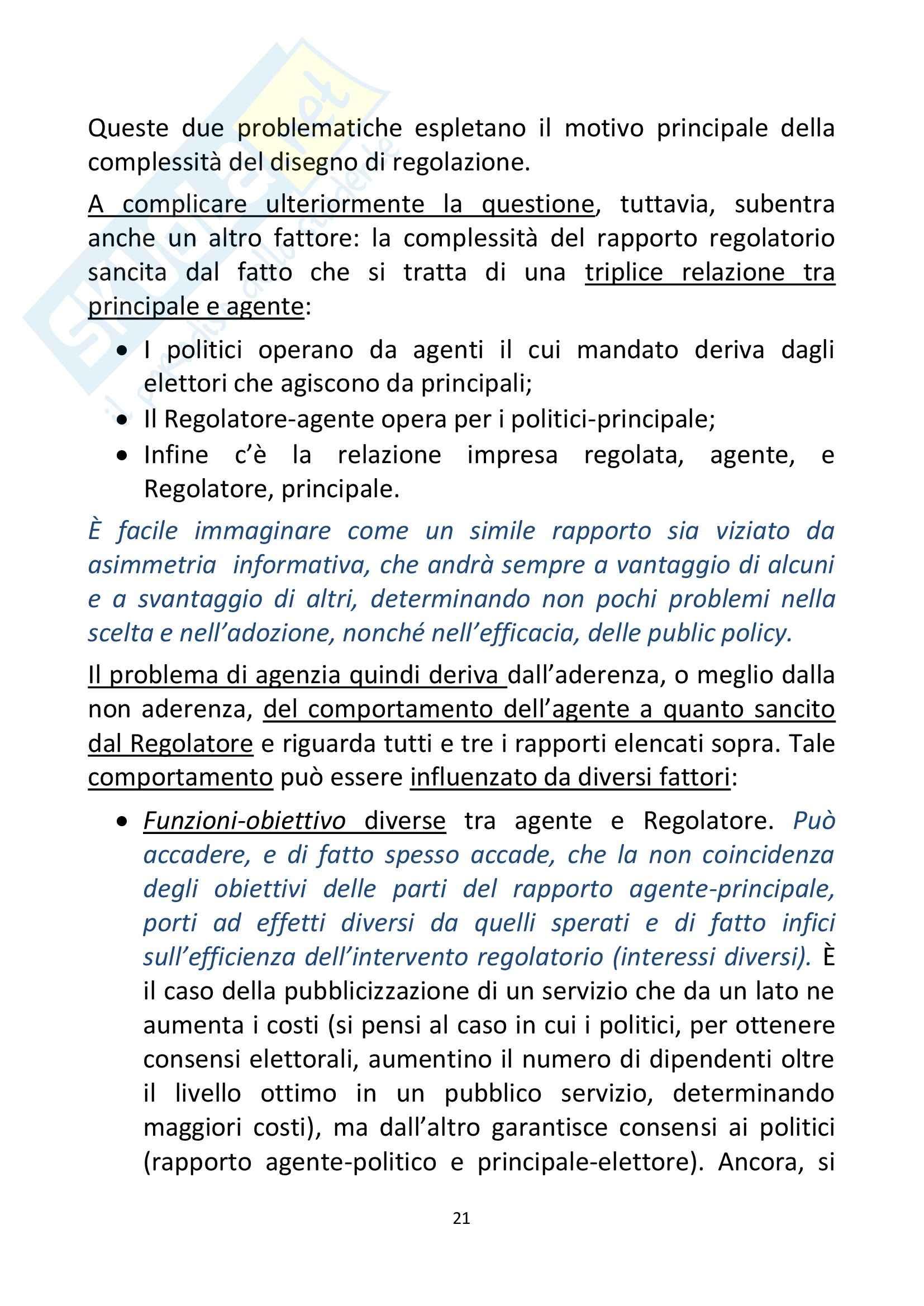 Riassunto esame Economia, prof. Ferrari, libro consigliato Regolazione dei servizi infrastrutturali, teoria e pratica,Marzi, Prosperetti, Putzu Pag. 21