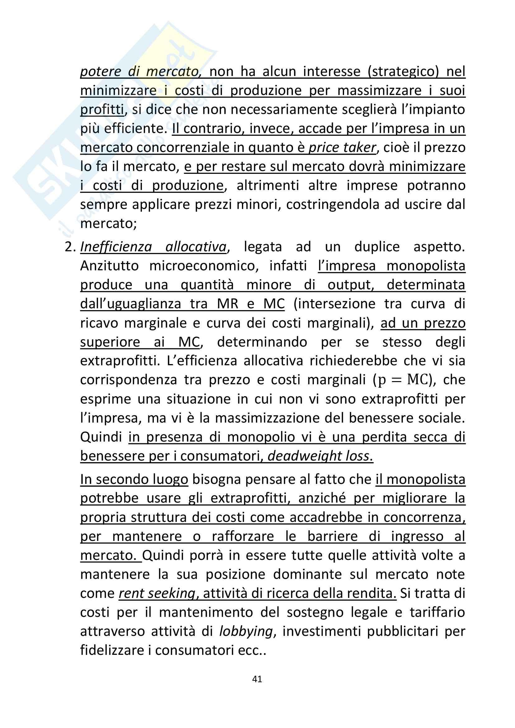 Riassunto esame Economia, prof. Ferrari, libro consigliato Regolazione dei servizi infrastrutturali, teoria e pratica,Marzi, Prosperetti, Putzu Pag. 41