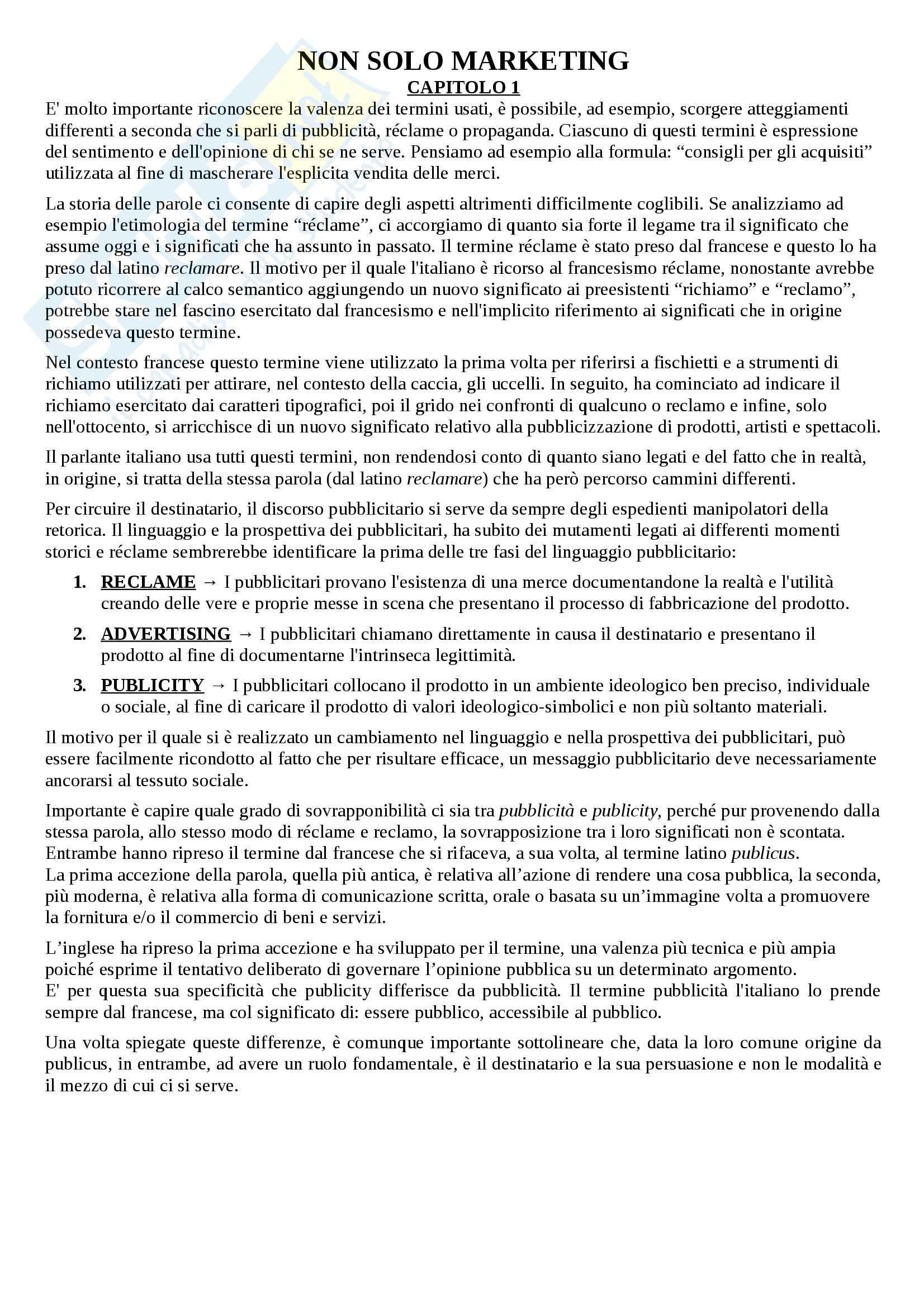 Riassunto esame linguistica e sociolinguistica, prof. Dragotto, libro consigliato Non solo marketing, Dragotto