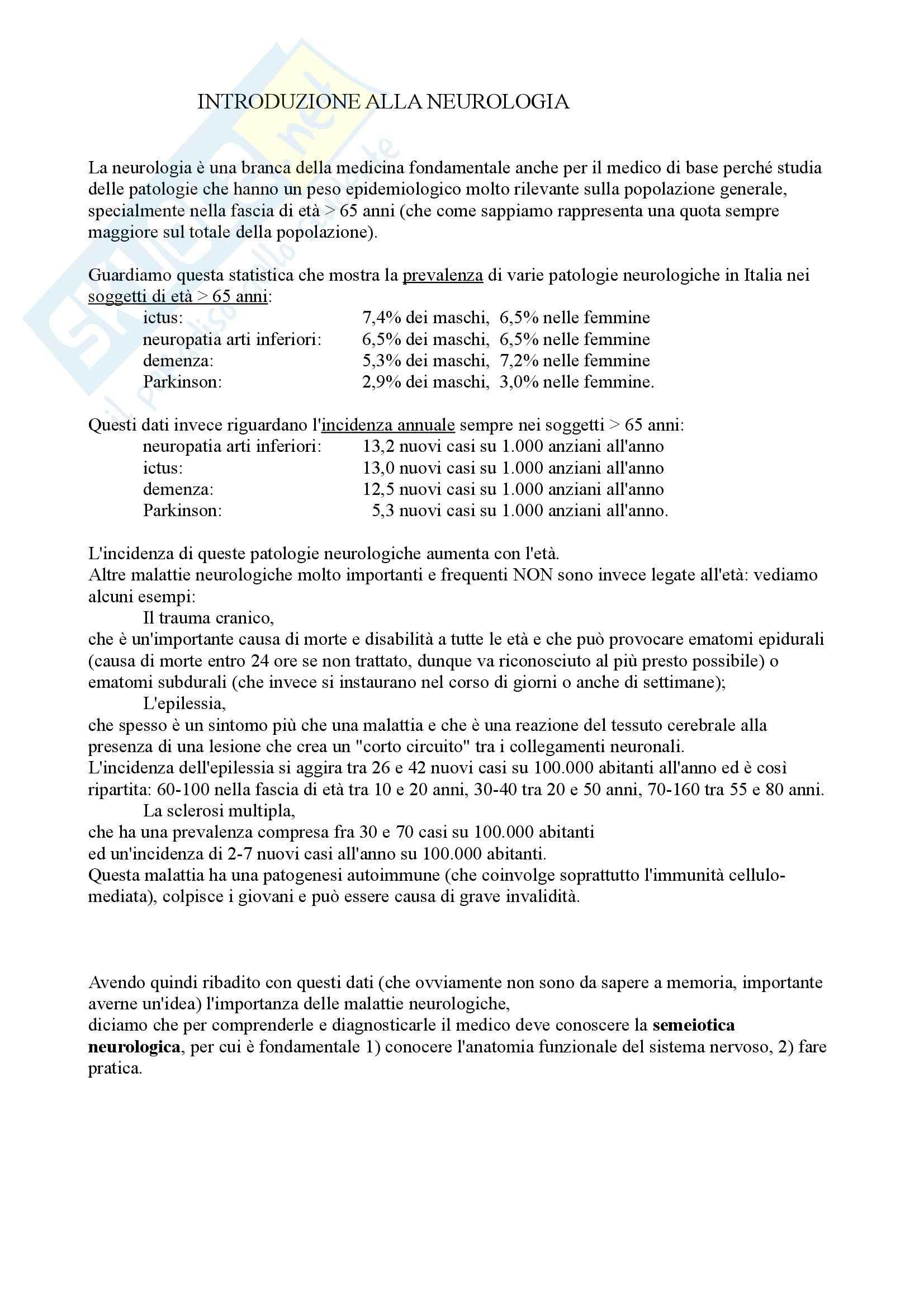 Neurologia - introduzione