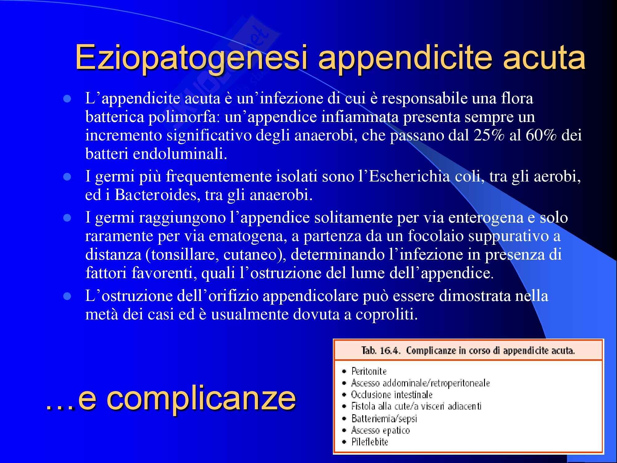 Chirurgia - Appendicite acuta