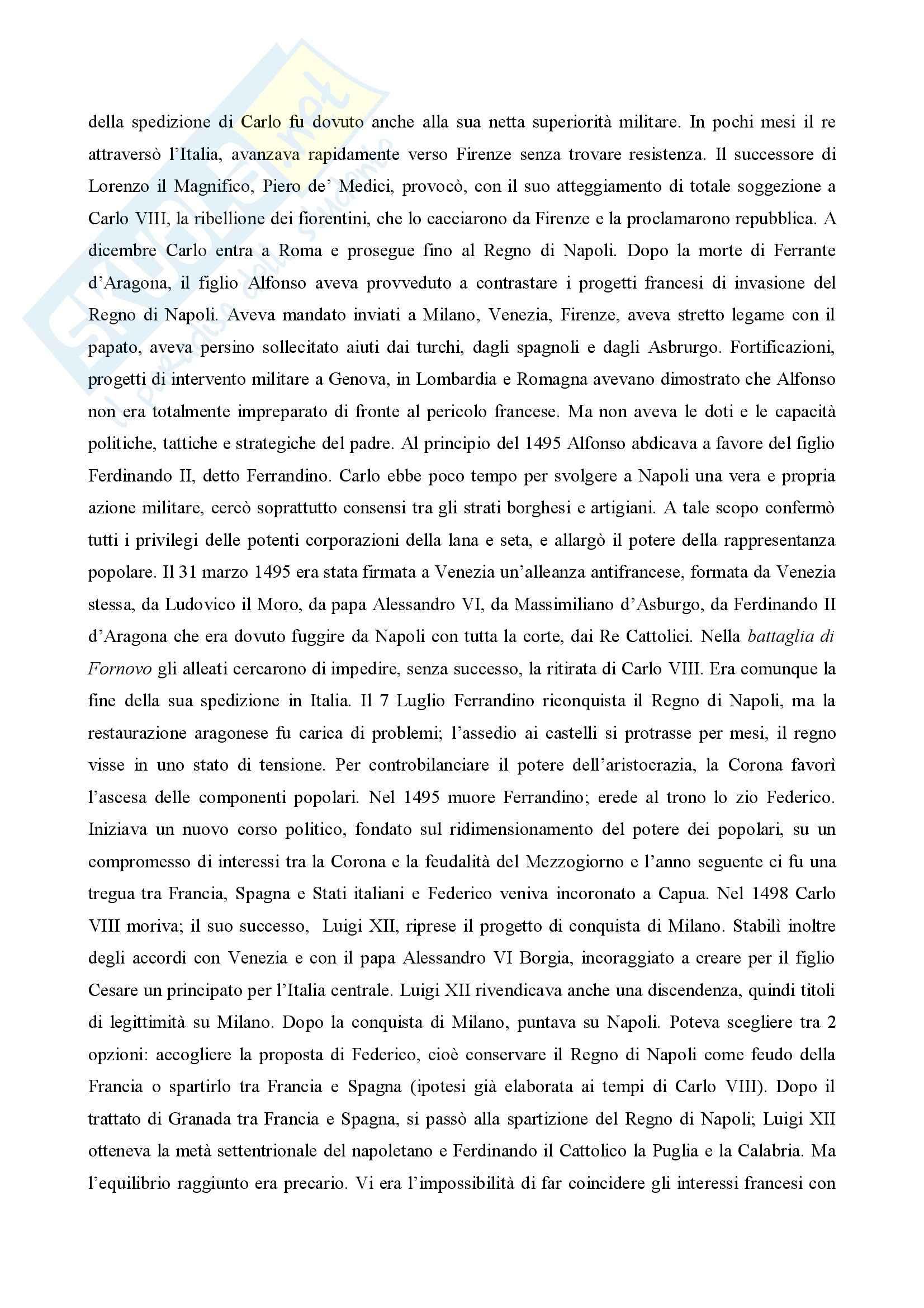 Storia moderna - Riassunto esame Pag. 11