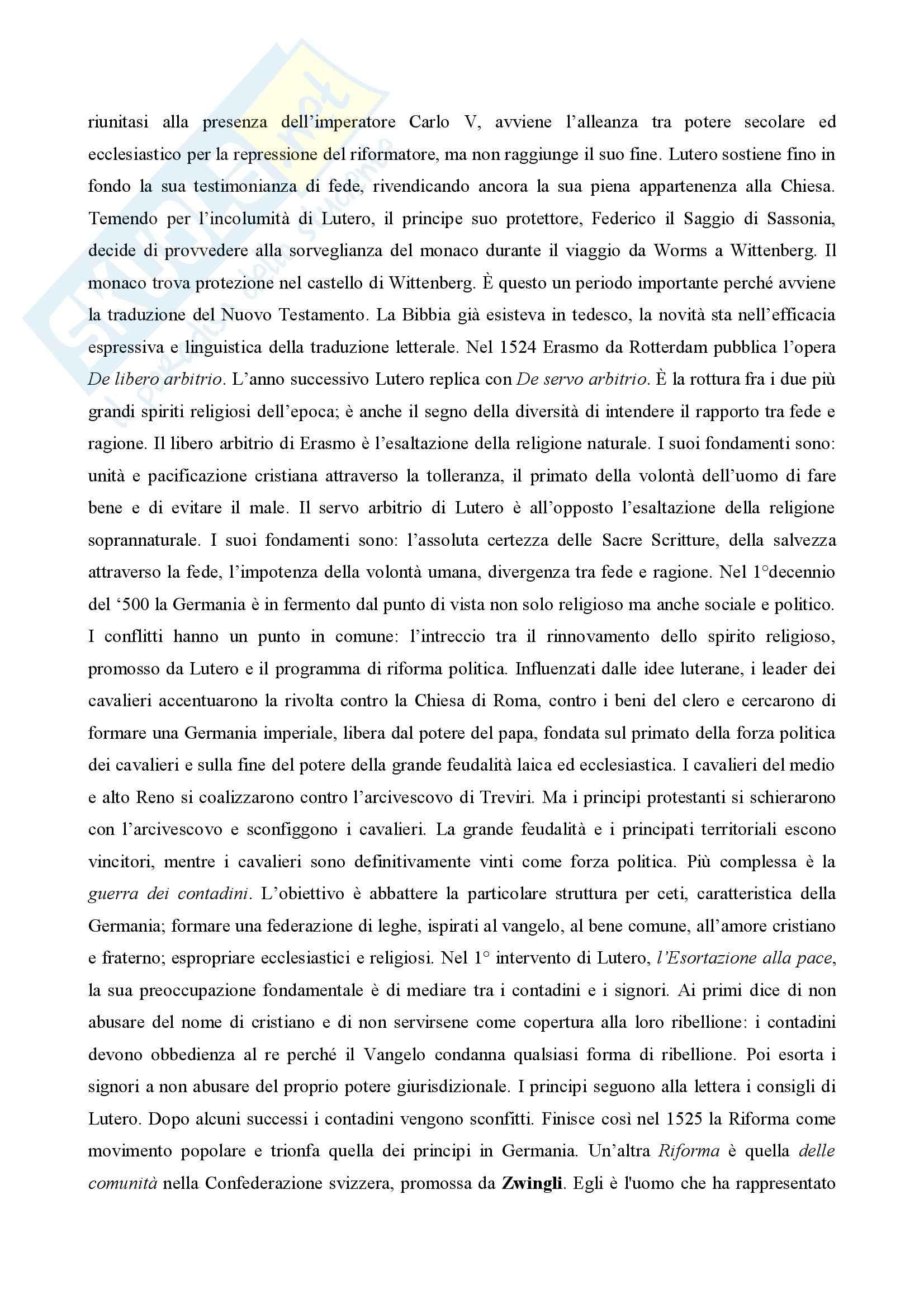 Storia moderna - Riassunto esame Pag. 16