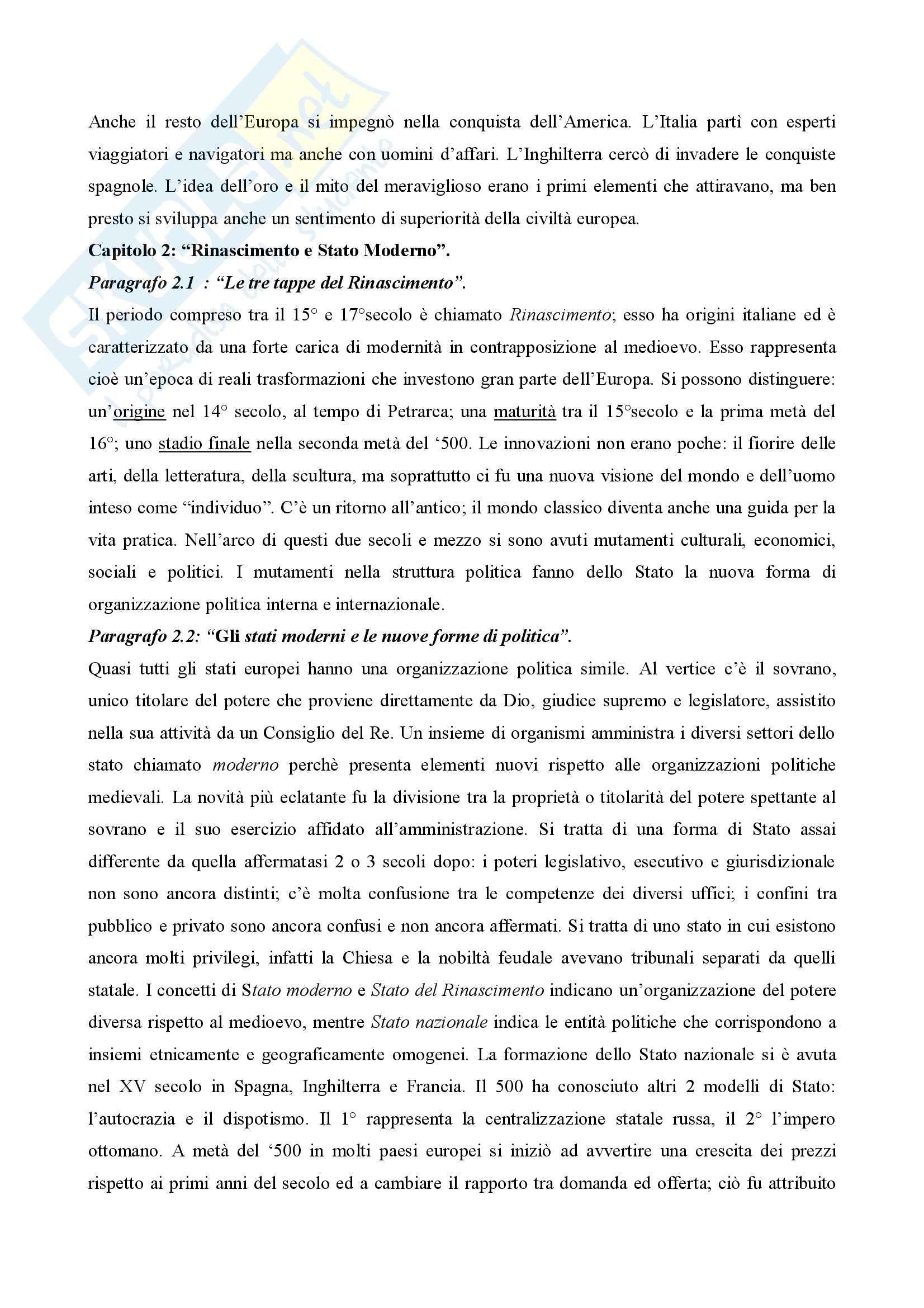 Storia moderna - Riassunto esame Pag. 6