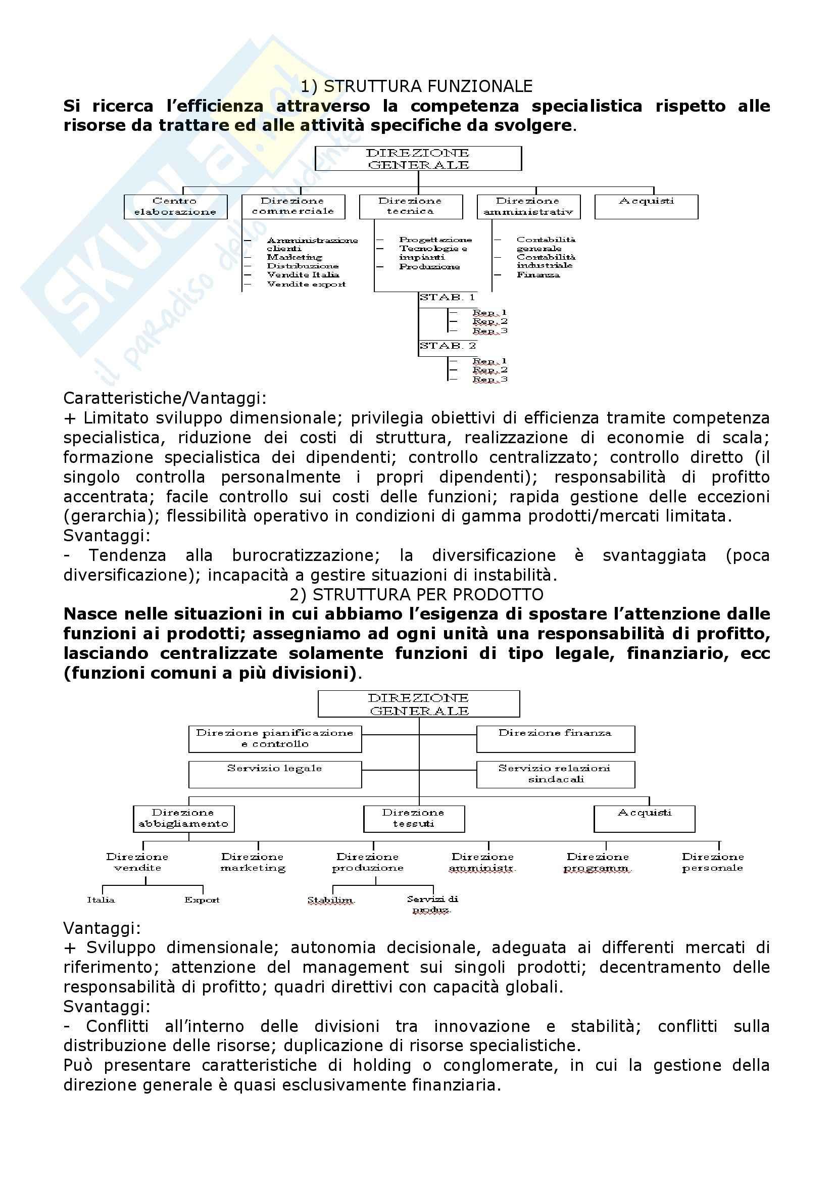 Economia e organizzazione aziendale - i metodi organizzativi Pag. 2