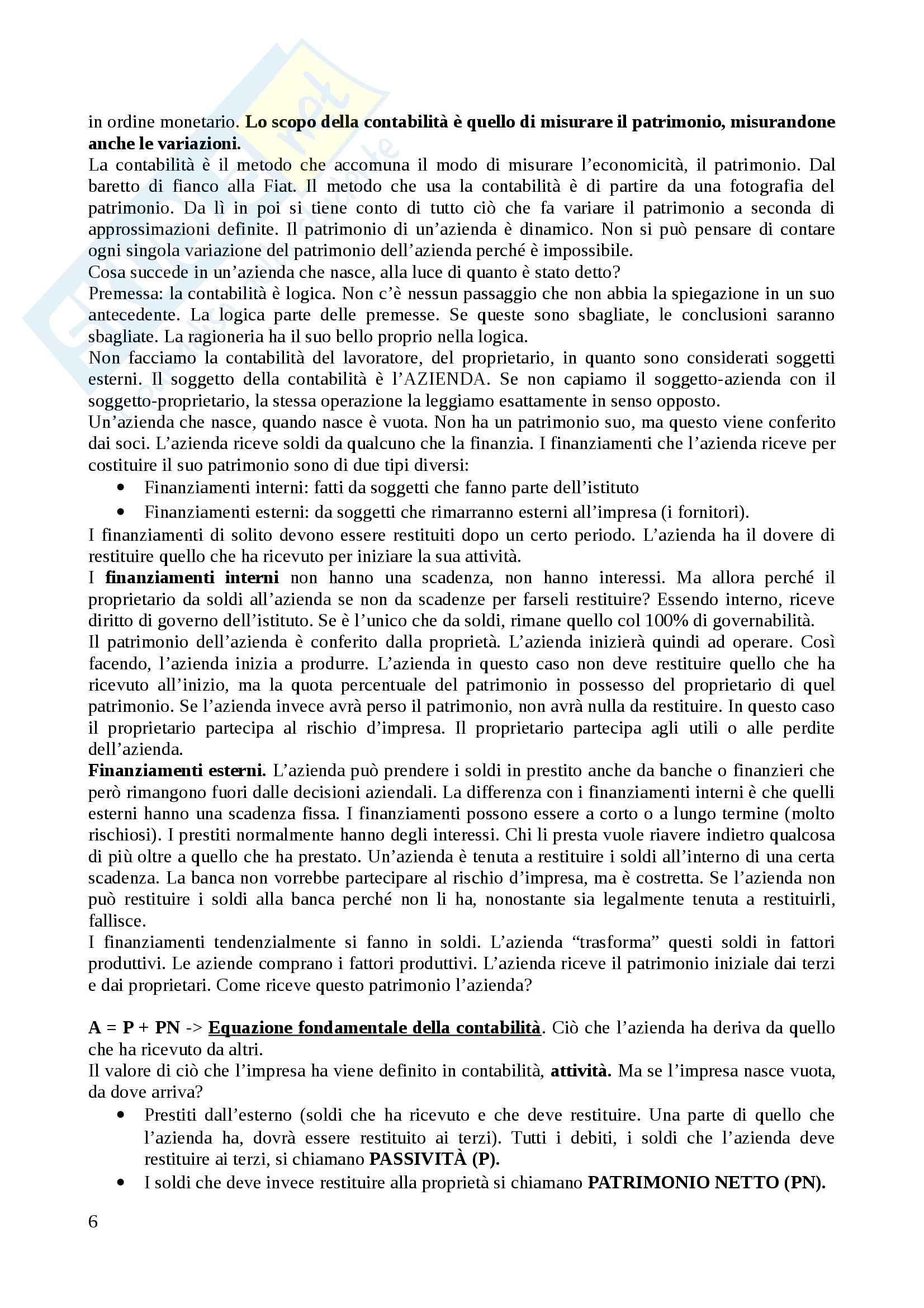 Economia aziendale (modulo 1) - Appunti Pag. 6
