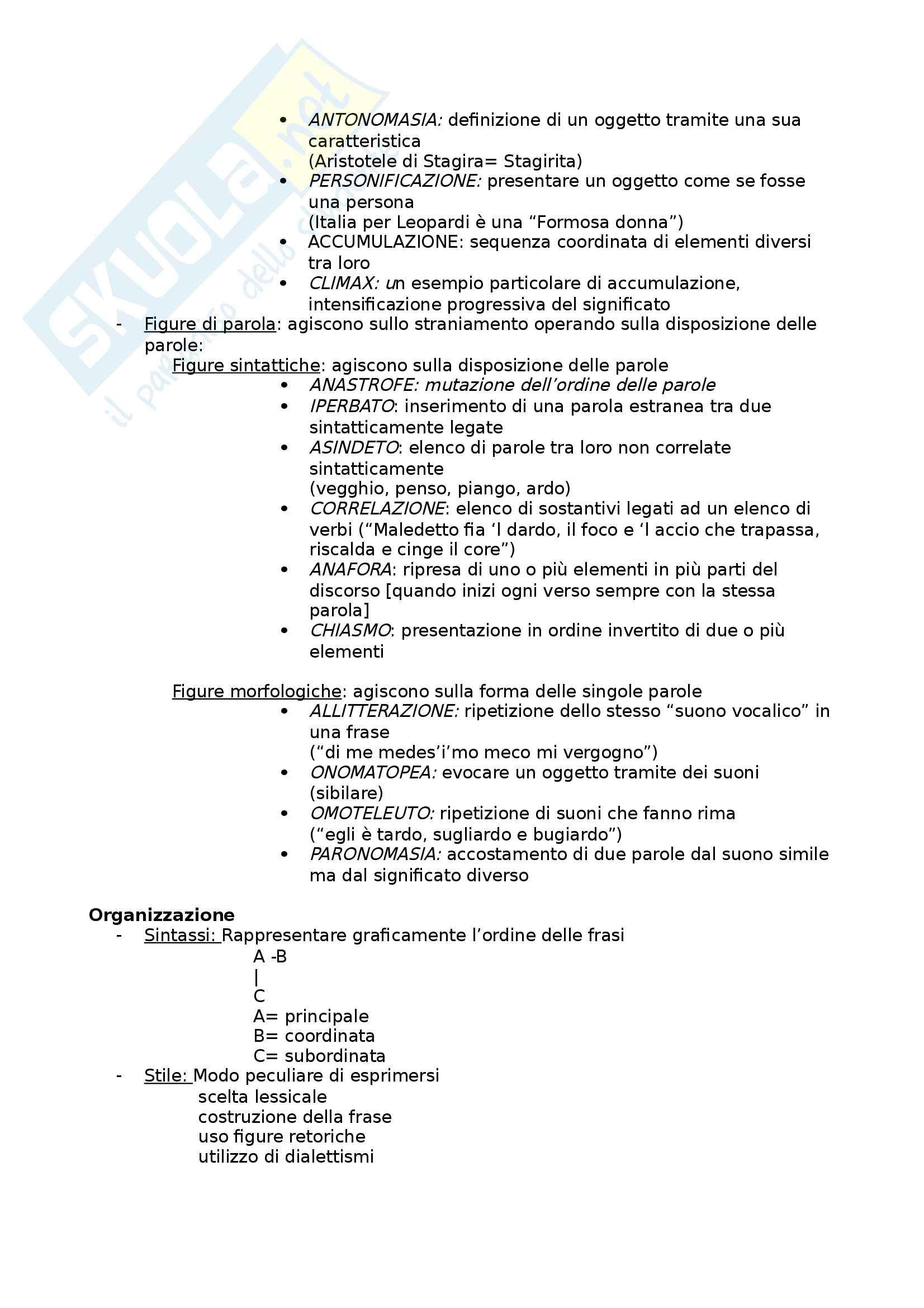 Riassunto esame letteratura, prof. Masoero, libro consigliato Dimensioni della letteratura italiana, Morabito, Roma, Carocci, 2004 Pag. 6