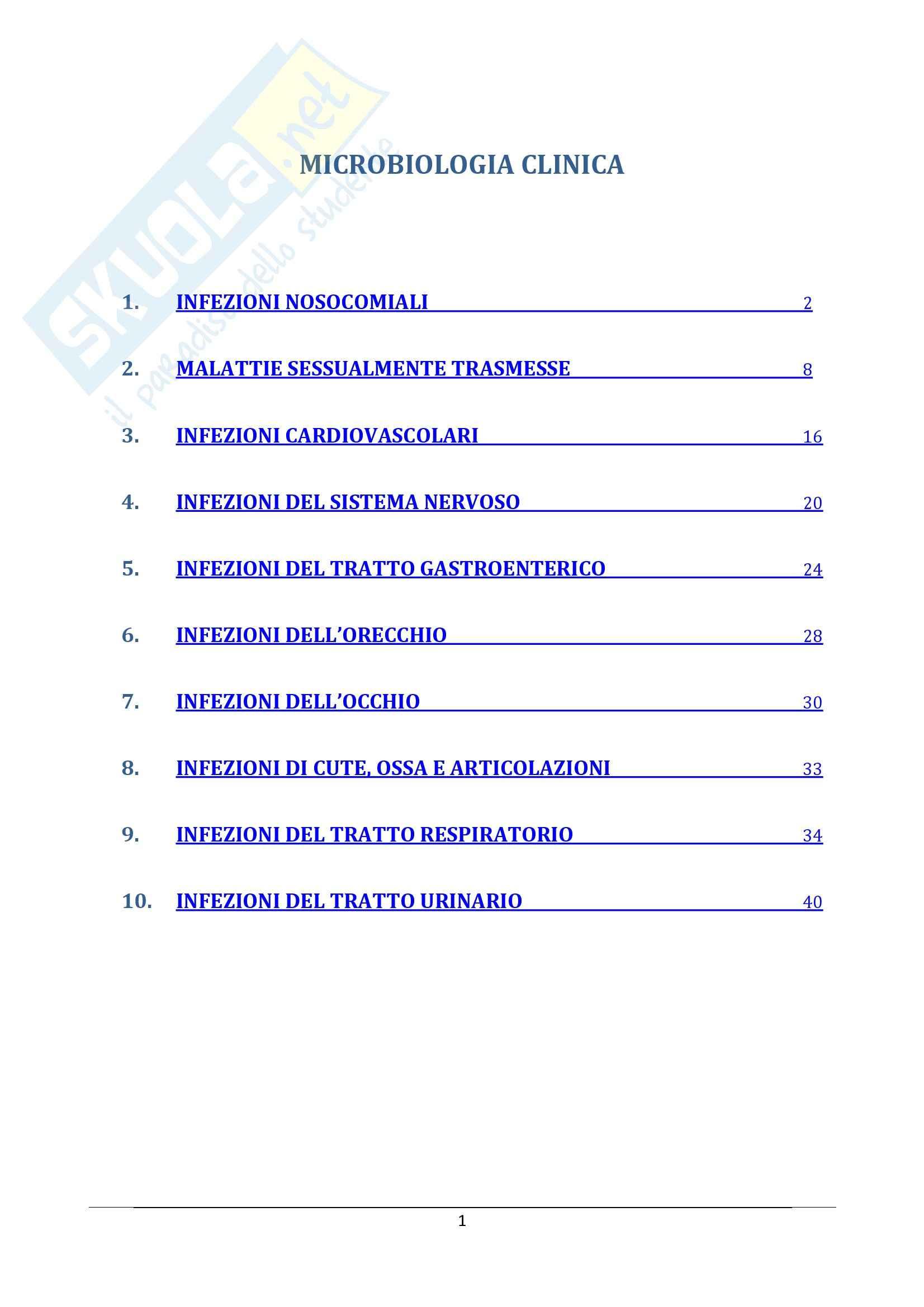 Microbiologia clinica - Appunti