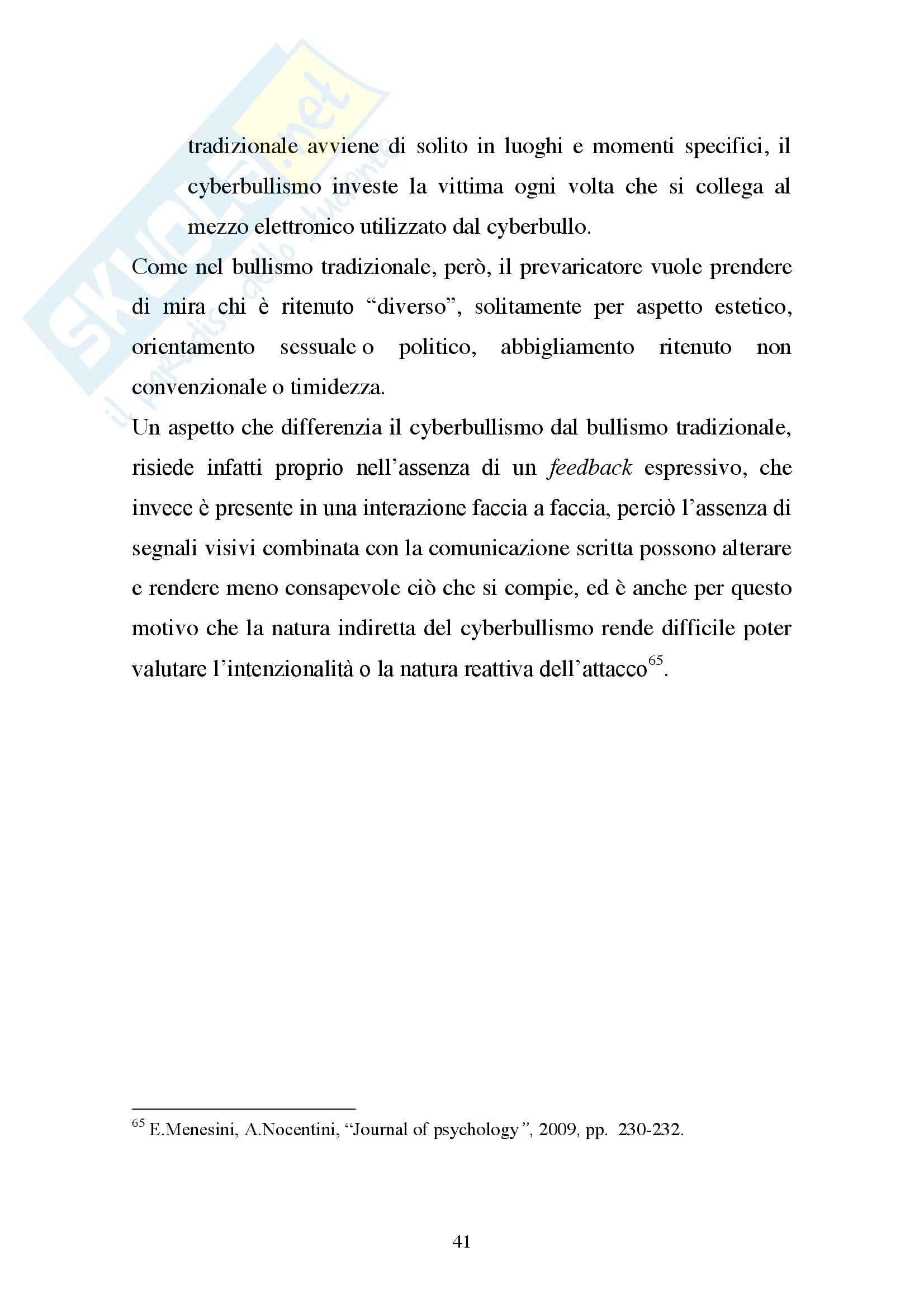 Cyberbullismo, Criminologia Pag. 41