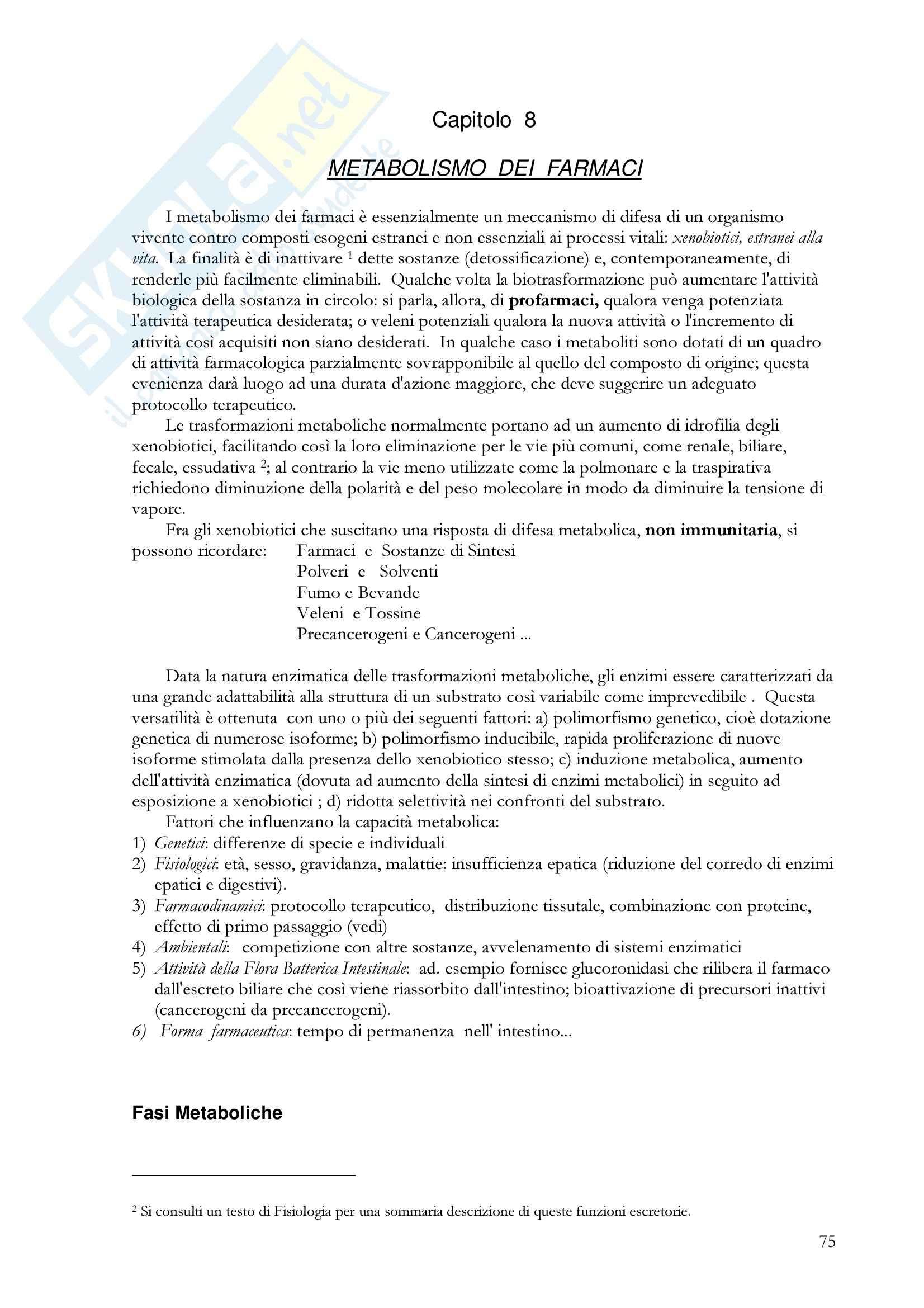 Farmacologia generale - metabolismo epatico dei farmaci