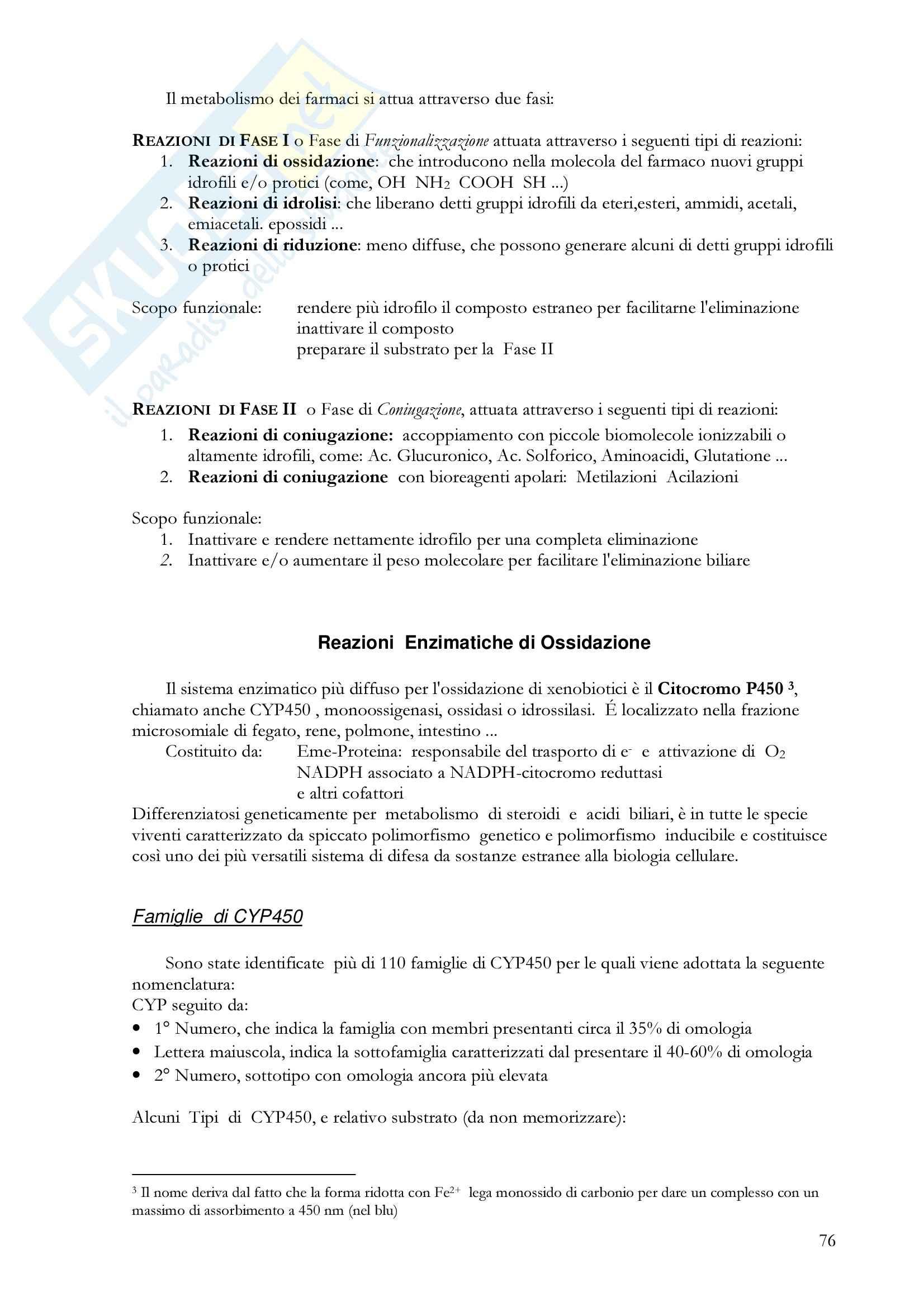 Farmacologia generale - metabolismo epatico dei farmaci Pag. 2