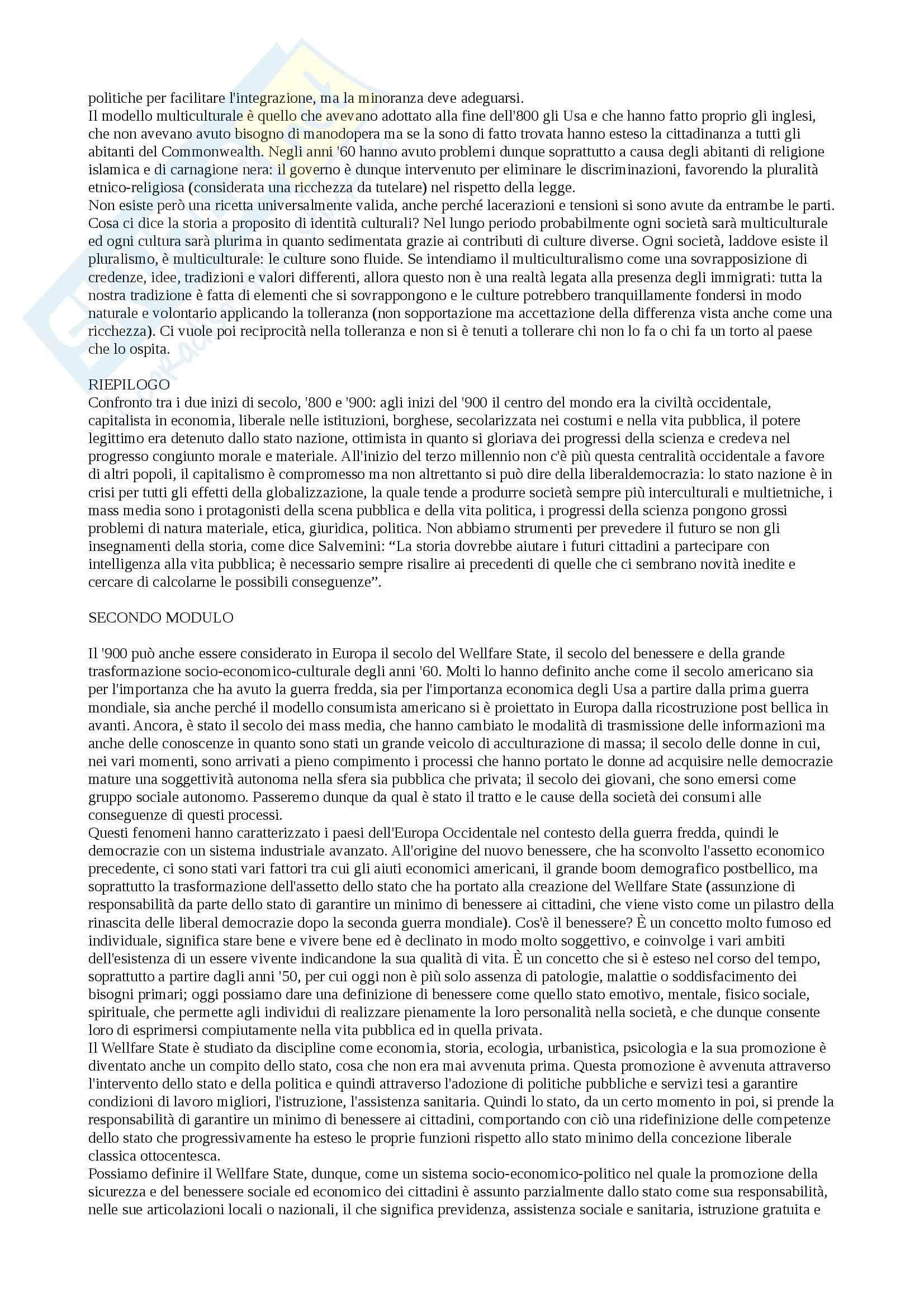 Storia della società del XX secolo - Appunti Pag. 11