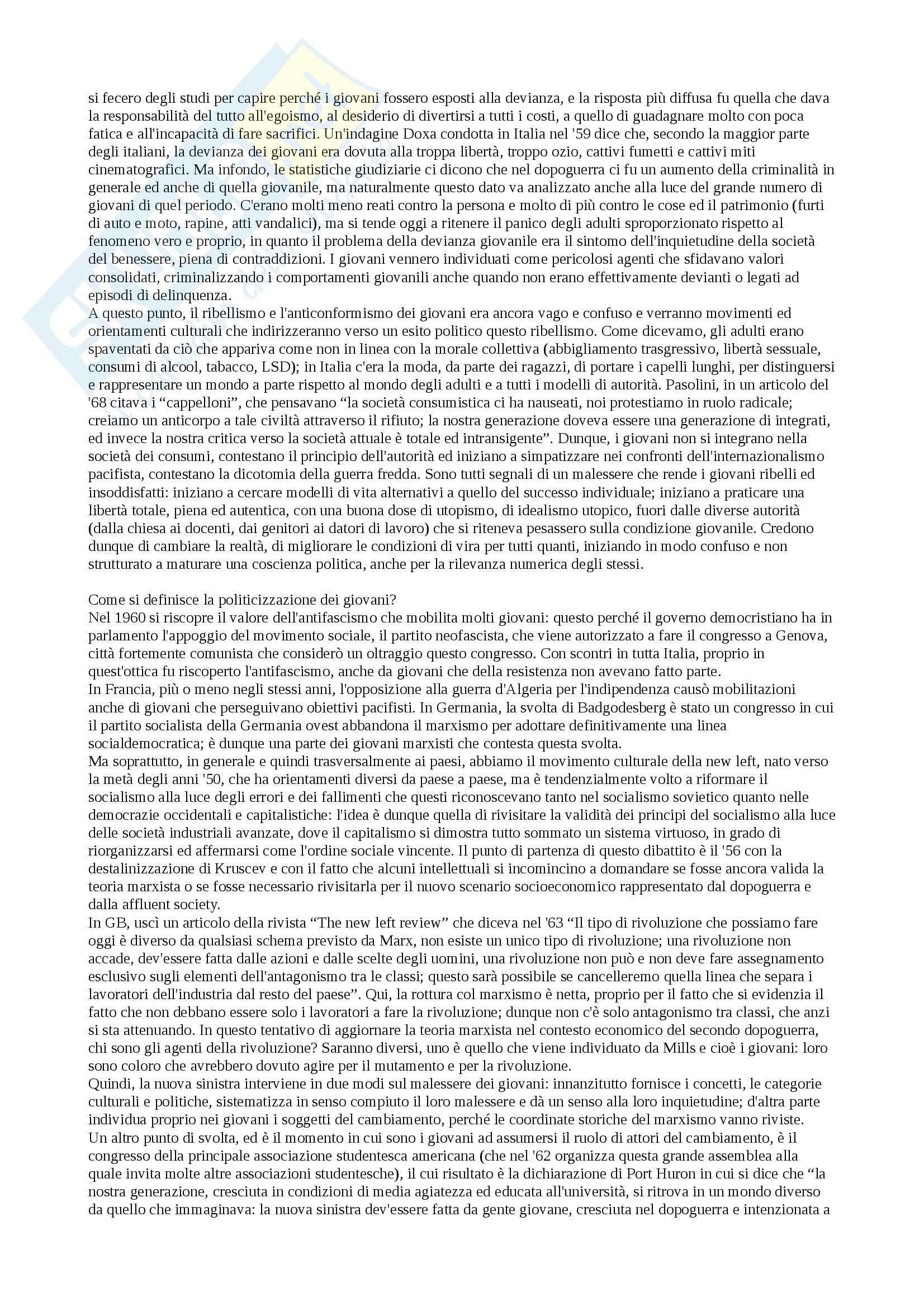 Storia della società del XX secolo - Appunti Pag. 21