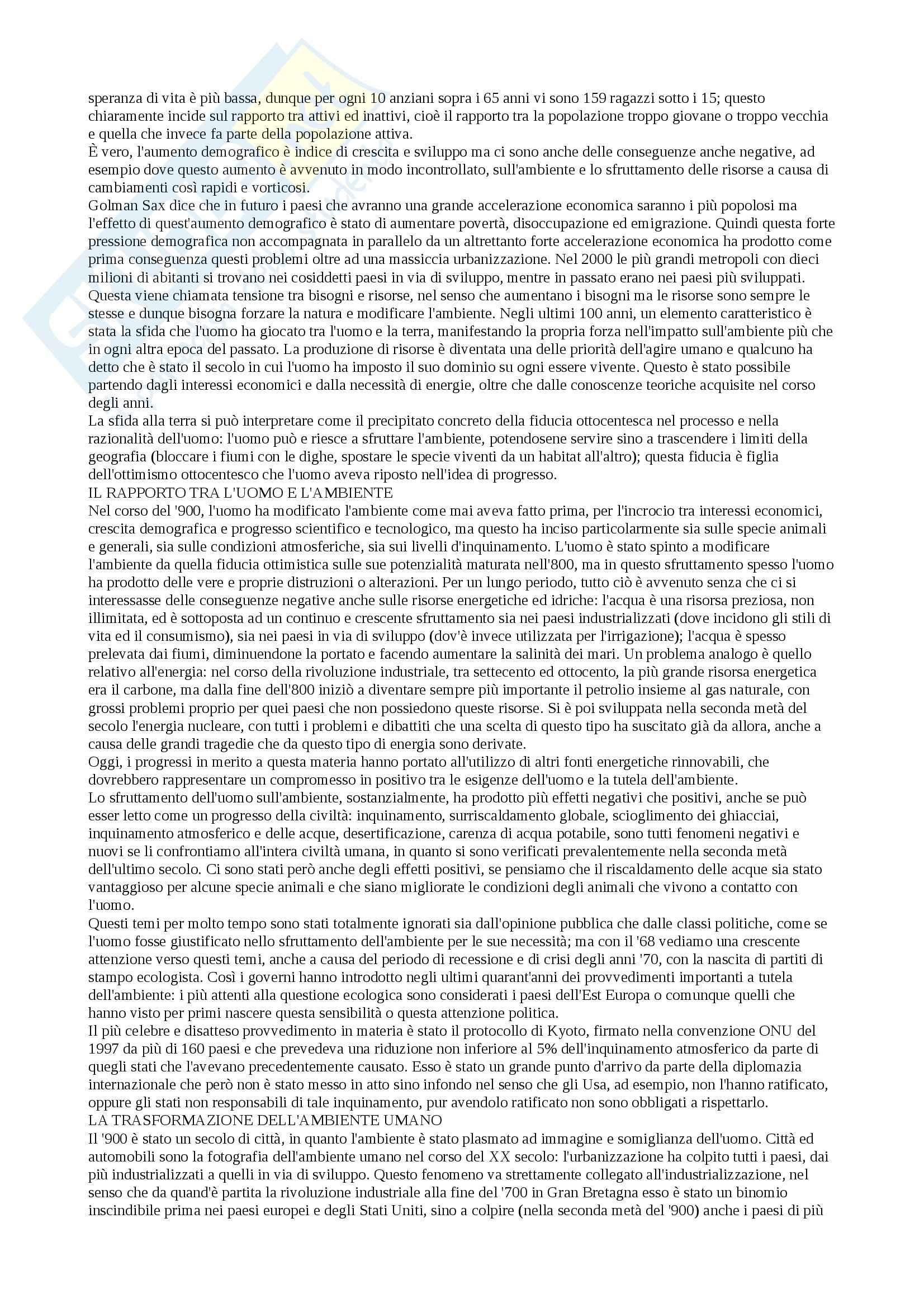 Storia della società del XX secolo - Appunti Pag. 6