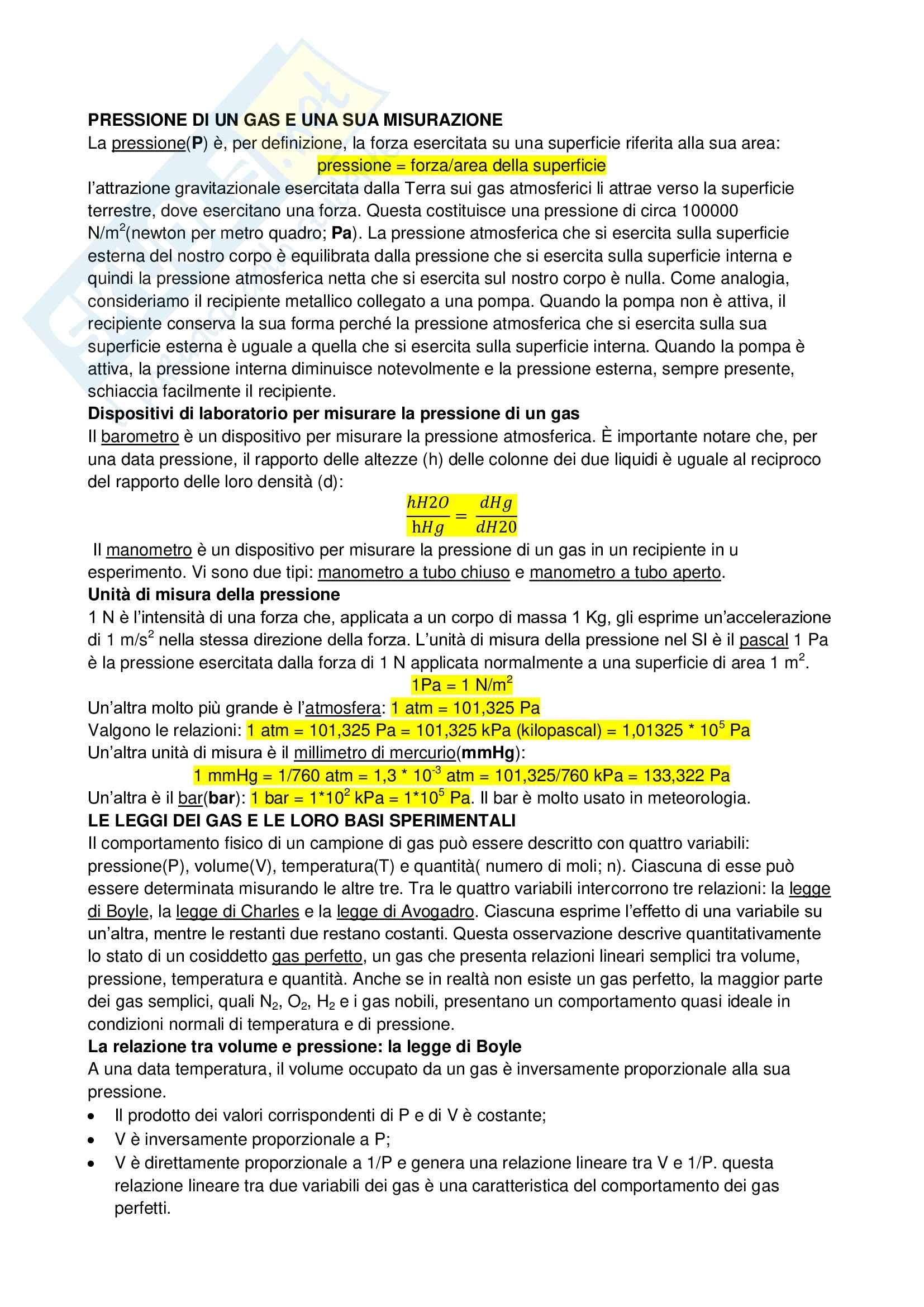 Riassunto esame Chimica Generale e Inorganica, prof. Giorgini, libro consigliato Chimica di Silberberg Pag. 16