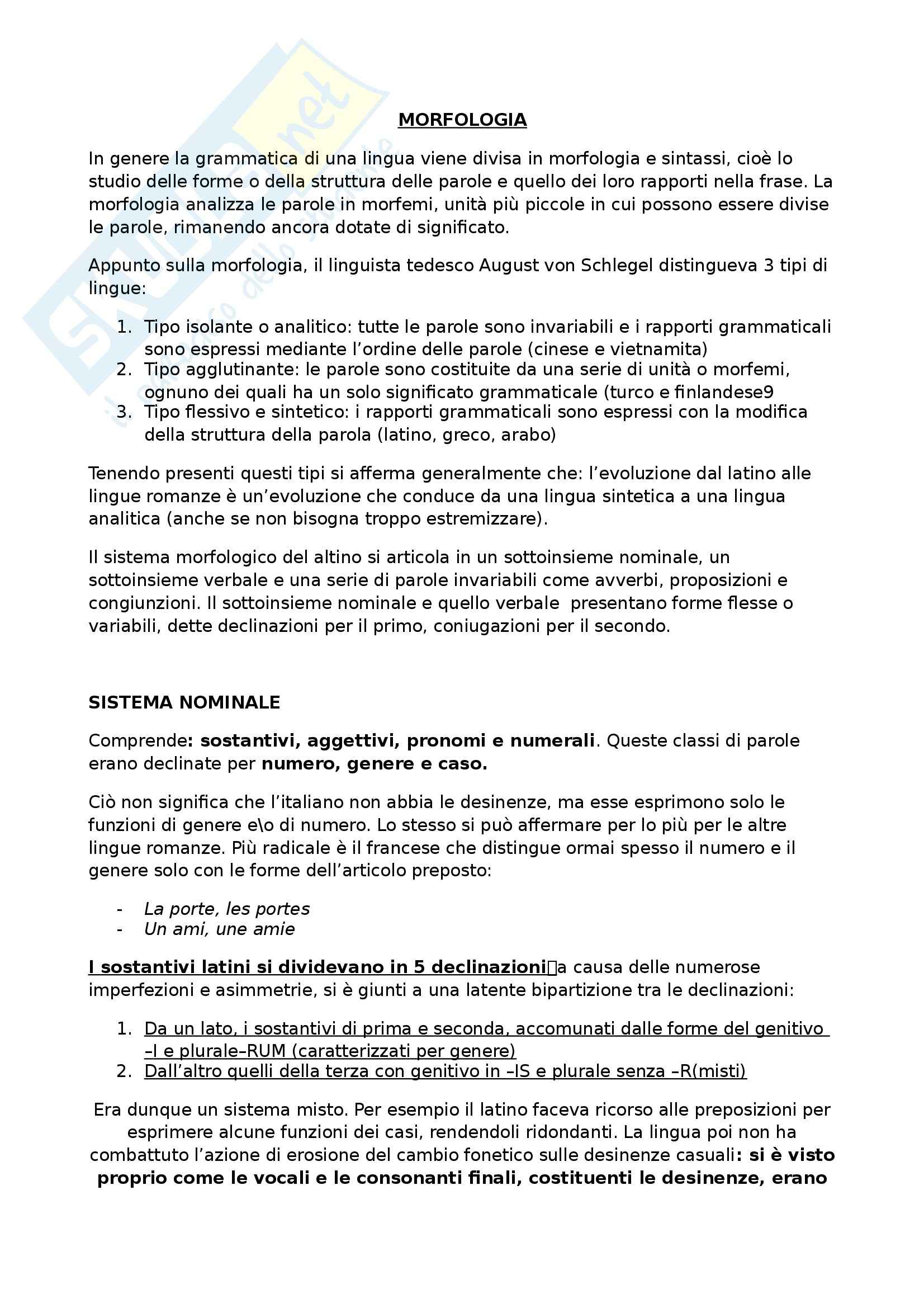 Riassunto esame Filologia romanza, prof. Manetti, libro consigliato Linguistica romanza, Lee