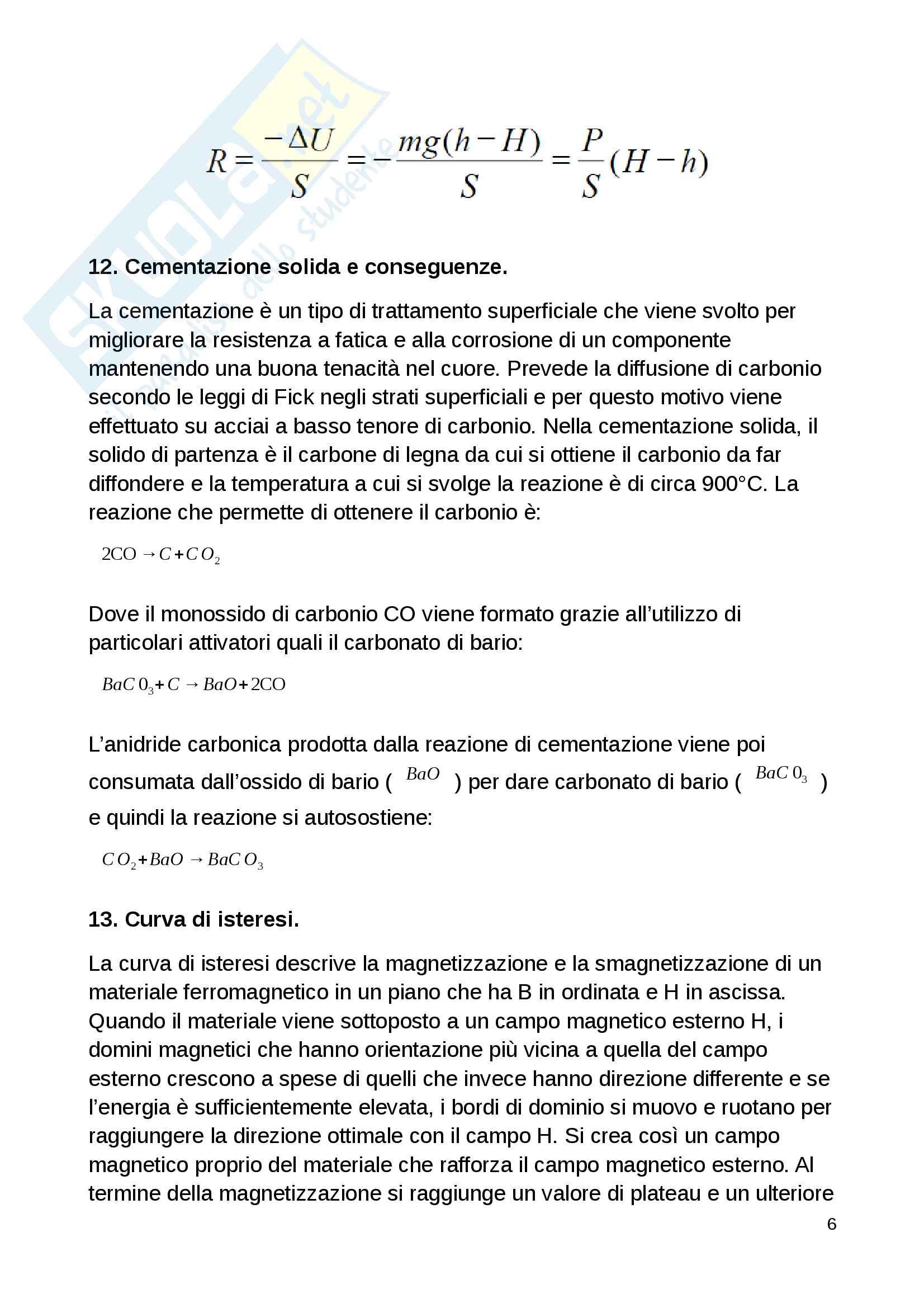 Domande d'esame Scienza e Tecnologia dei Materiali Pag. 6