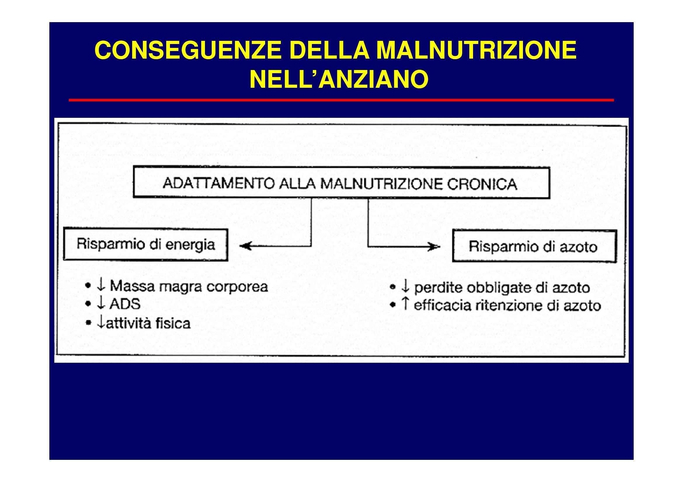 Nutrizione clinica - le conseguenze della malnutrizione nell'anziano