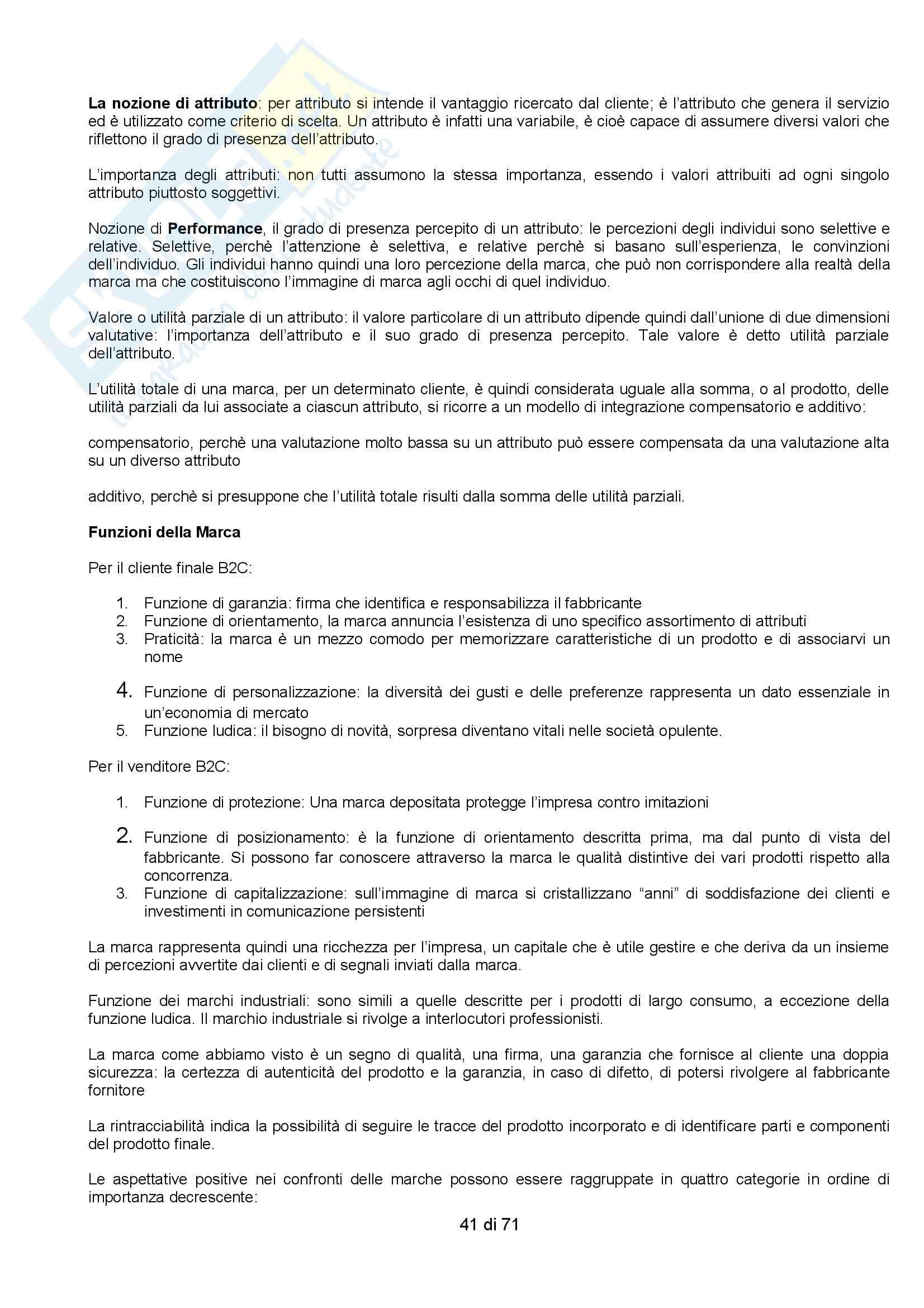 Riassunto esame Organizzazione Aziendale, prof. Vernuccio, libro consigliato Marketing Strategico e Operativo, Lambin Pag. 41