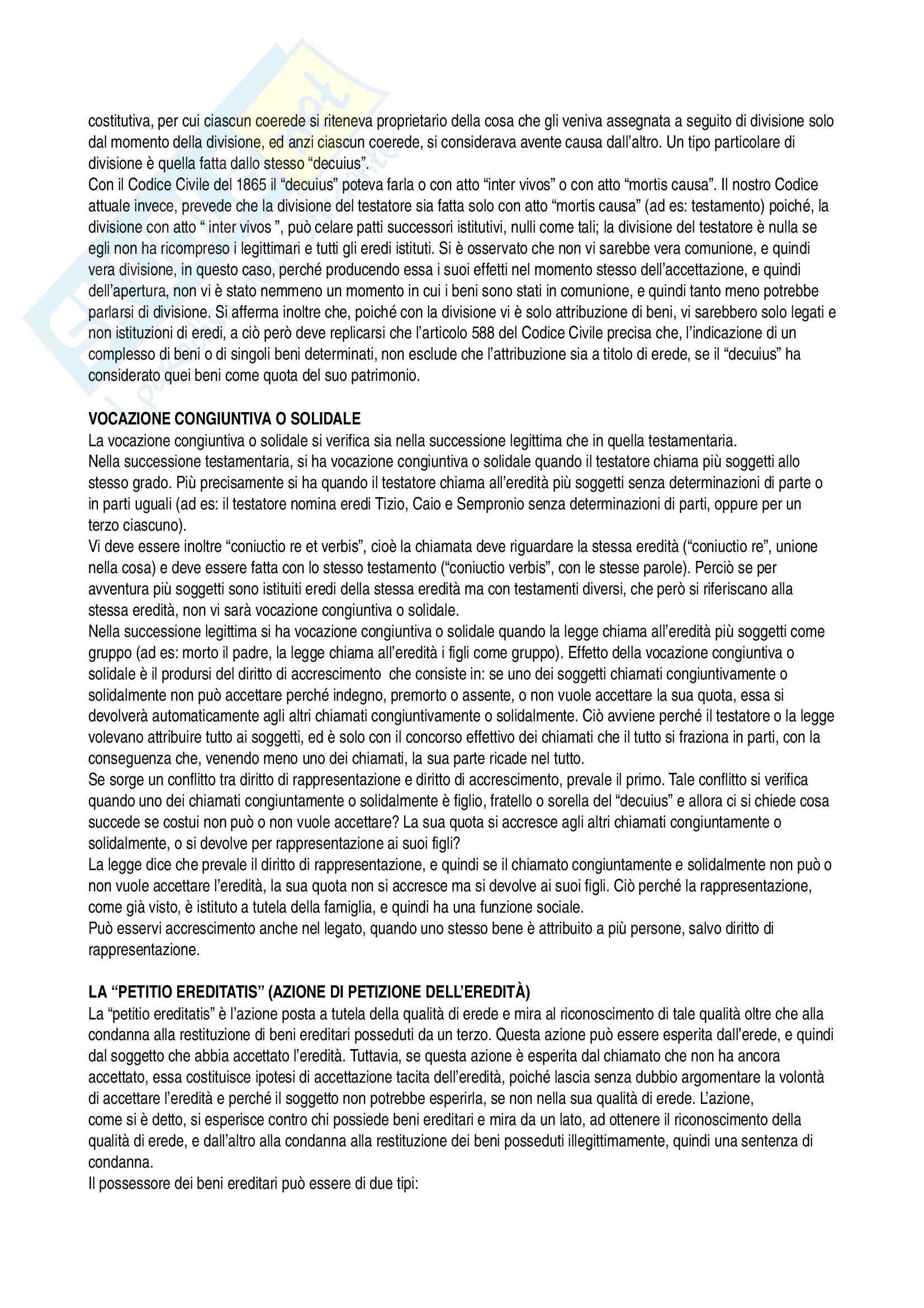 Successioni, Diritto privato Pag. 11