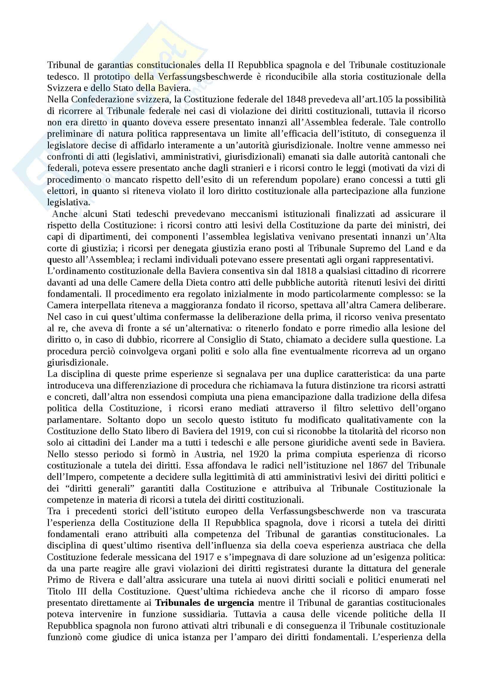 Riassunto esame Diritto Pubblico Comparato, prof. Pavani, libro consigliato La Tutela dei Diritti Costituzionali, Rolla Pag. 16