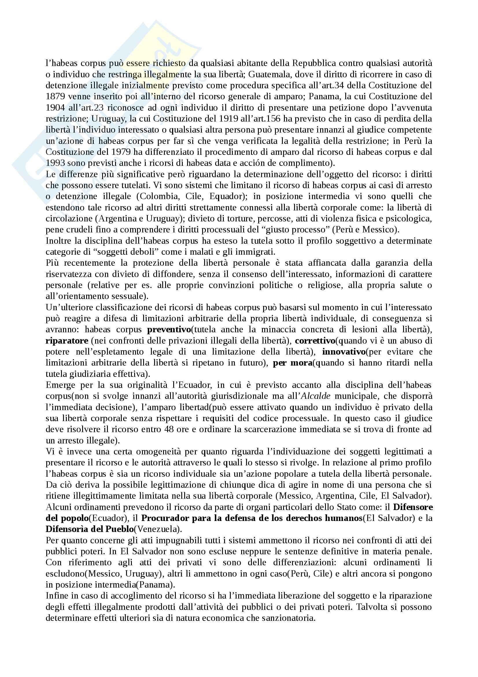 Riassunto esame Diritto Pubblico Comparato, prof. Pavani, libro consigliato La Tutela dei Diritti Costituzionali, Rolla Pag. 21