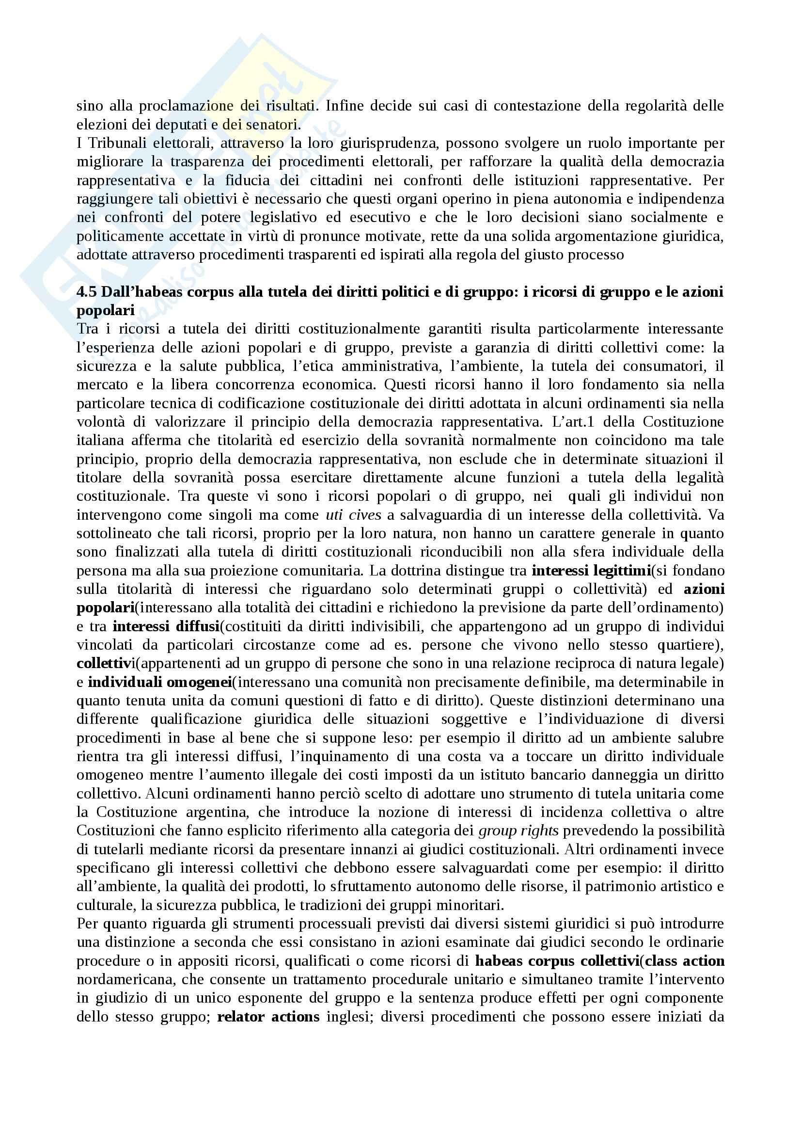 Riassunto esame Diritto Pubblico Comparato, prof. Pavani, libro consigliato La Tutela dei Diritti Costituzionali, Rolla Pag. 26