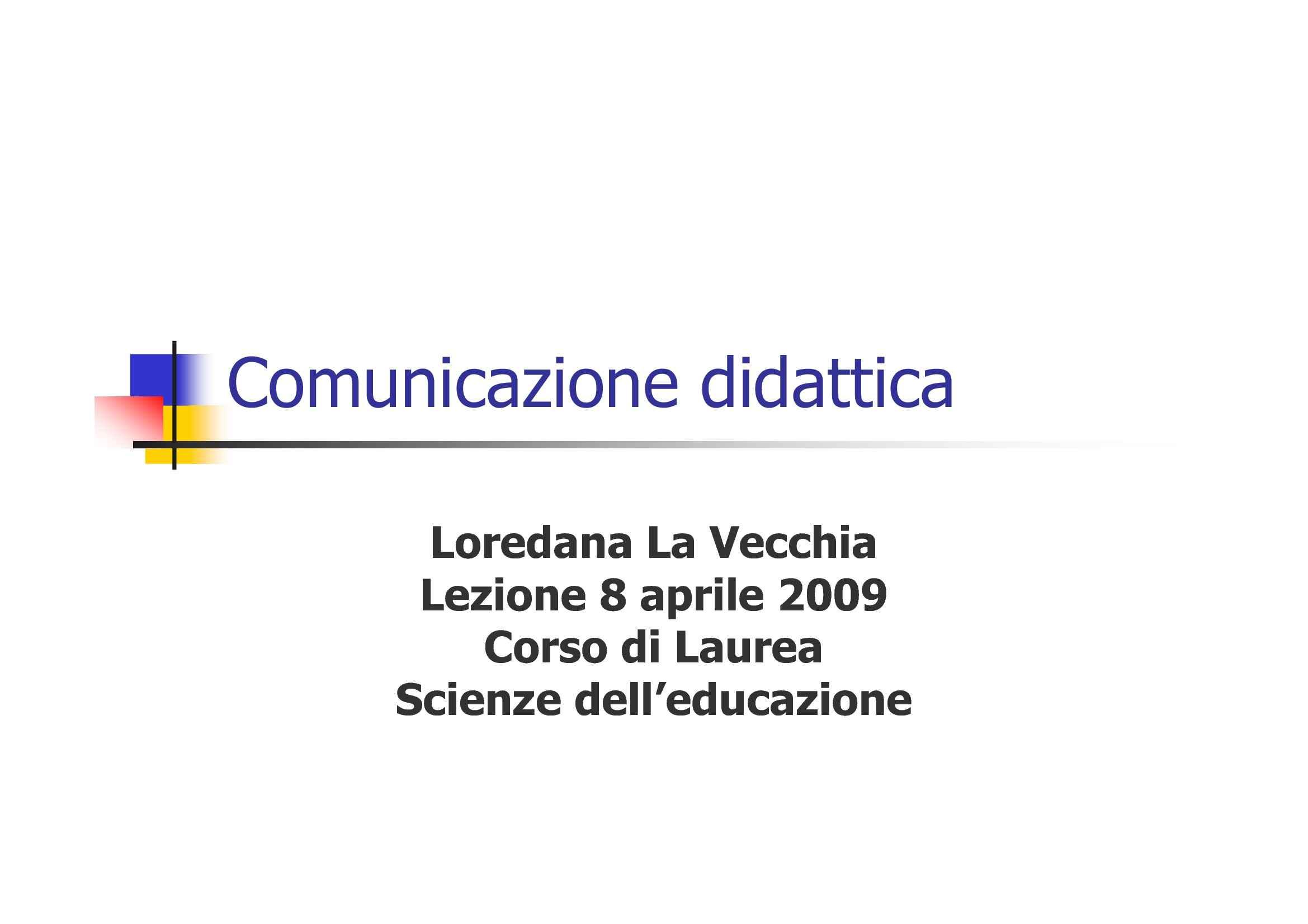 Comunicazione didattica