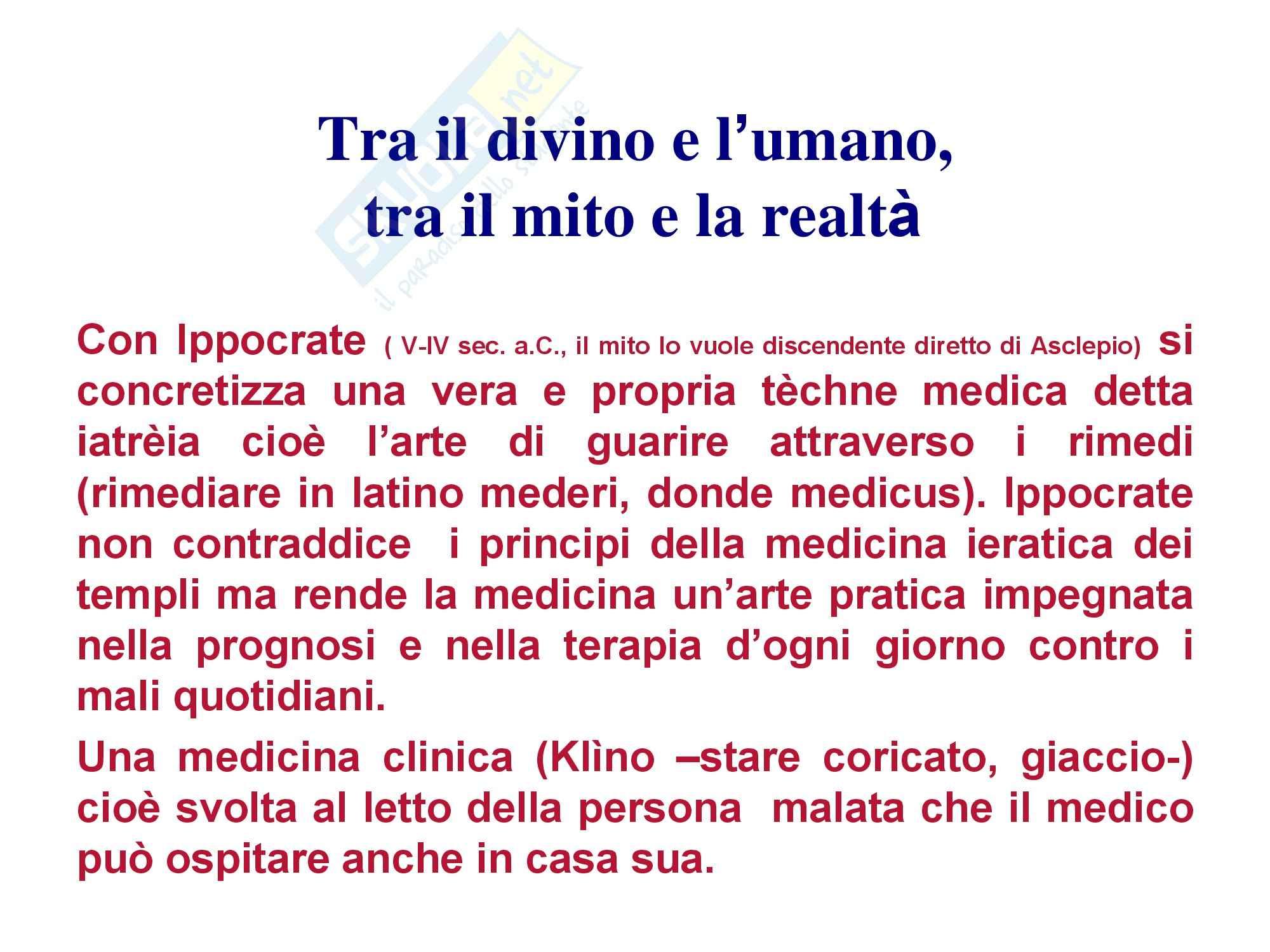 Storia della medicina - Da età classica a moderna Pag. 11