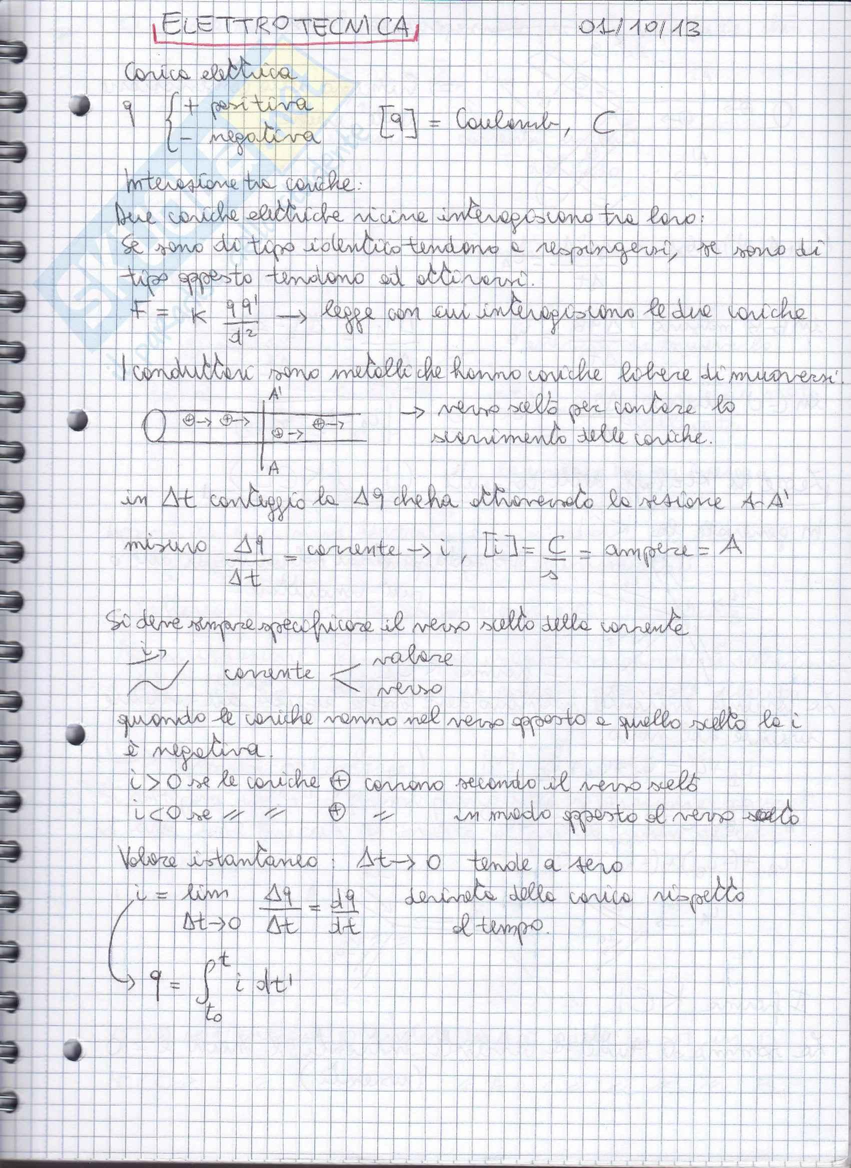 Lezioni: Appunti di Elettrotecnica