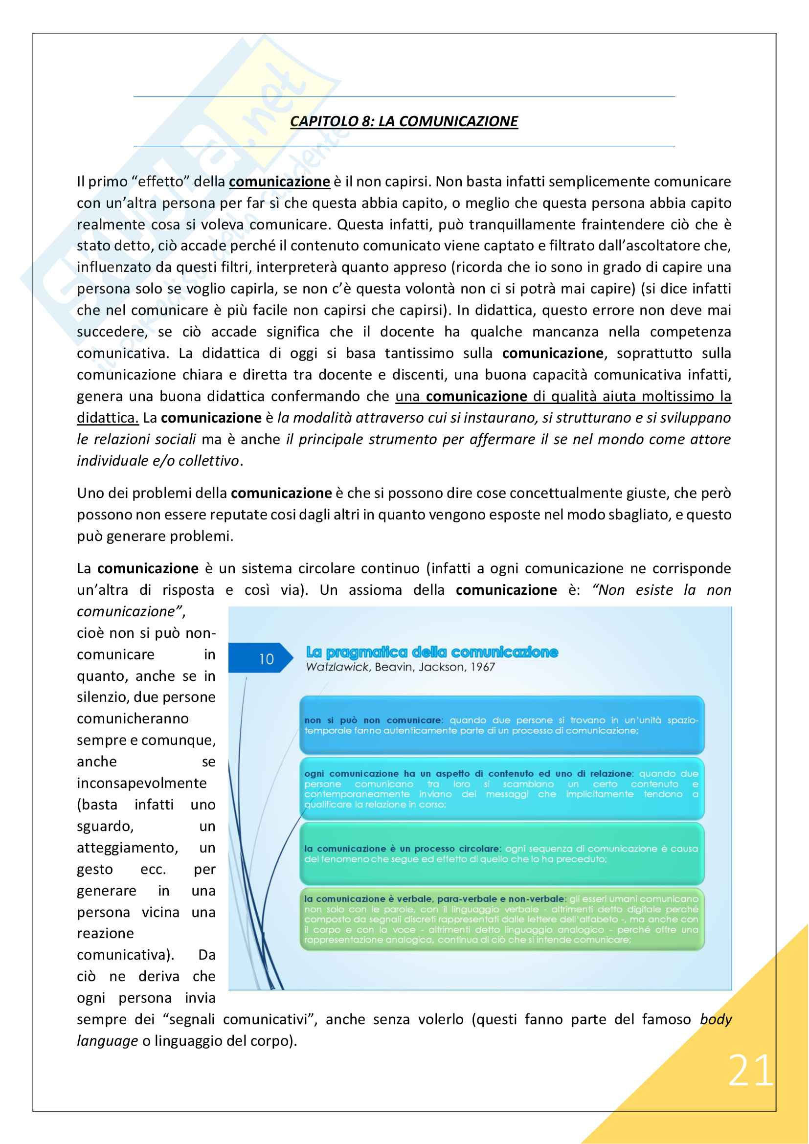 Didattica - 1° Anno Scienze Motorie Pag. 21